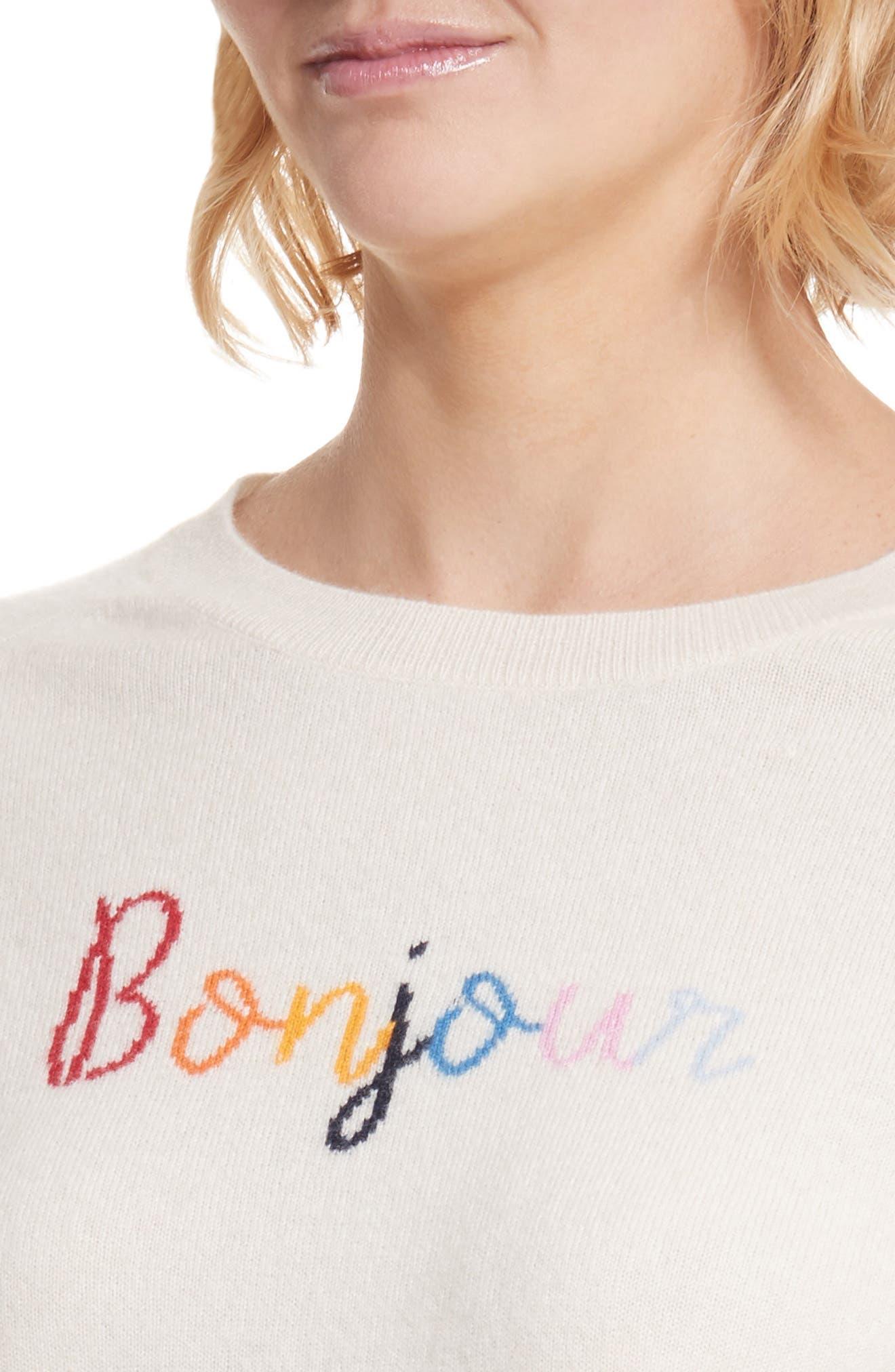 CHINTI & PARKER Bonjour/Bonsoir Cashmere Sweater,                             Alternate thumbnail 4, color,                             900