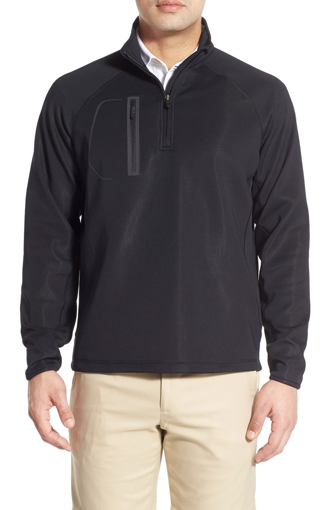 XH2O Crawford Stretch Quarter Zip Golf Pullover,                             Main thumbnail 3, color,