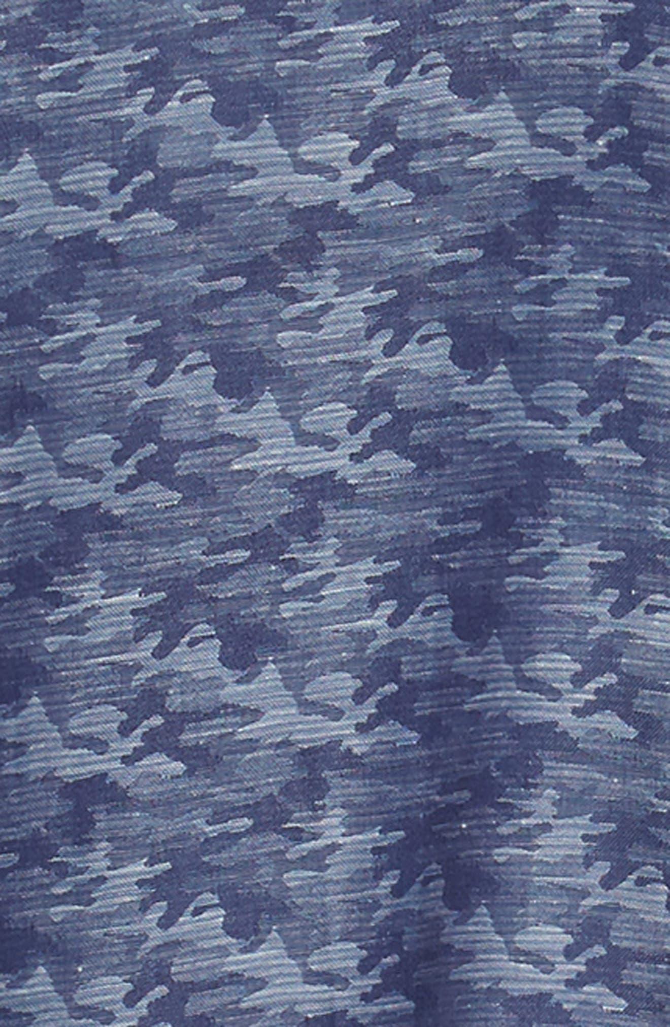 Trim Fit Sport Shirt,                             Alternate thumbnail 6, color,                             BLUE CAMO