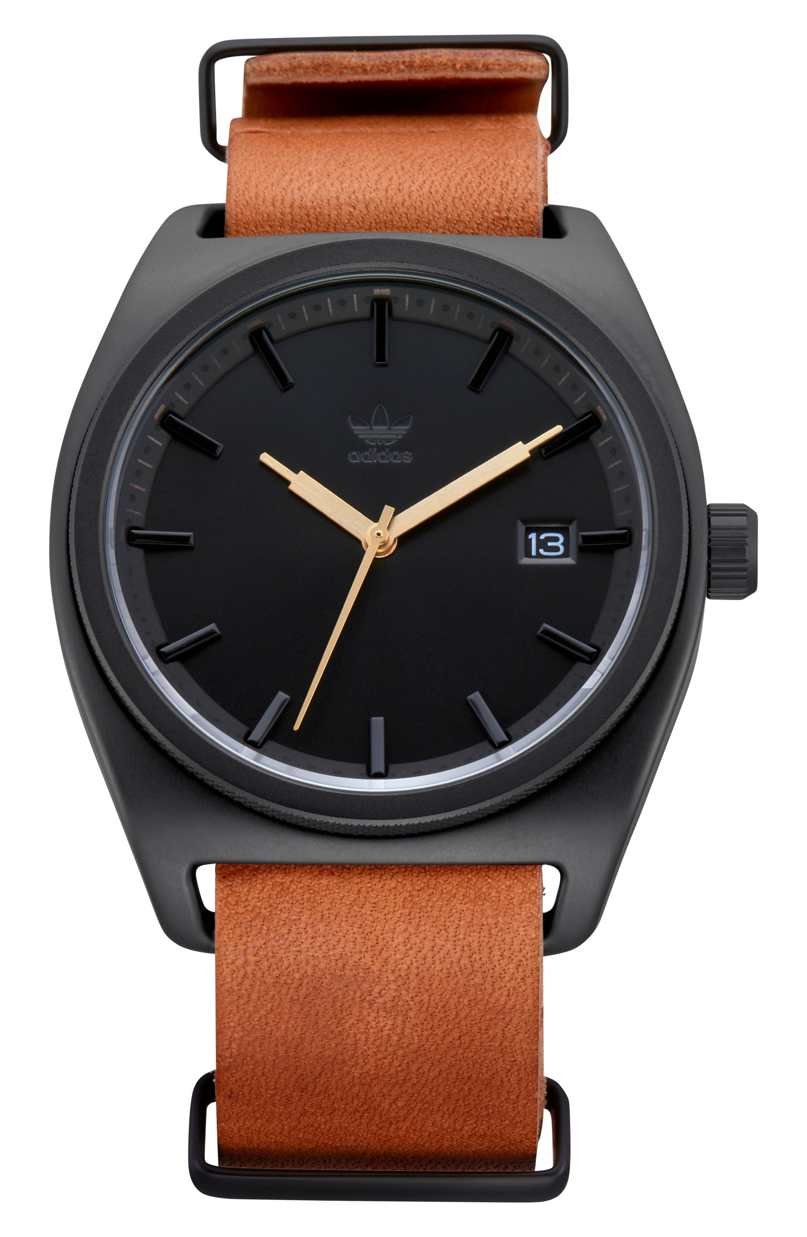 Process Interchangeable Strap Watch, 40mm,                             Alternate thumbnail 7, color,                             BLACK/ TAN