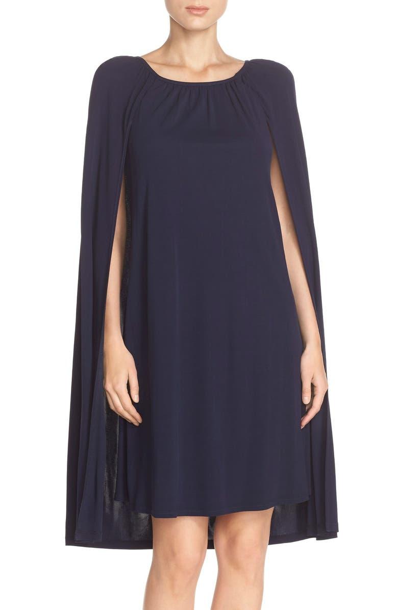 Amaro Jersey Cape Dress
