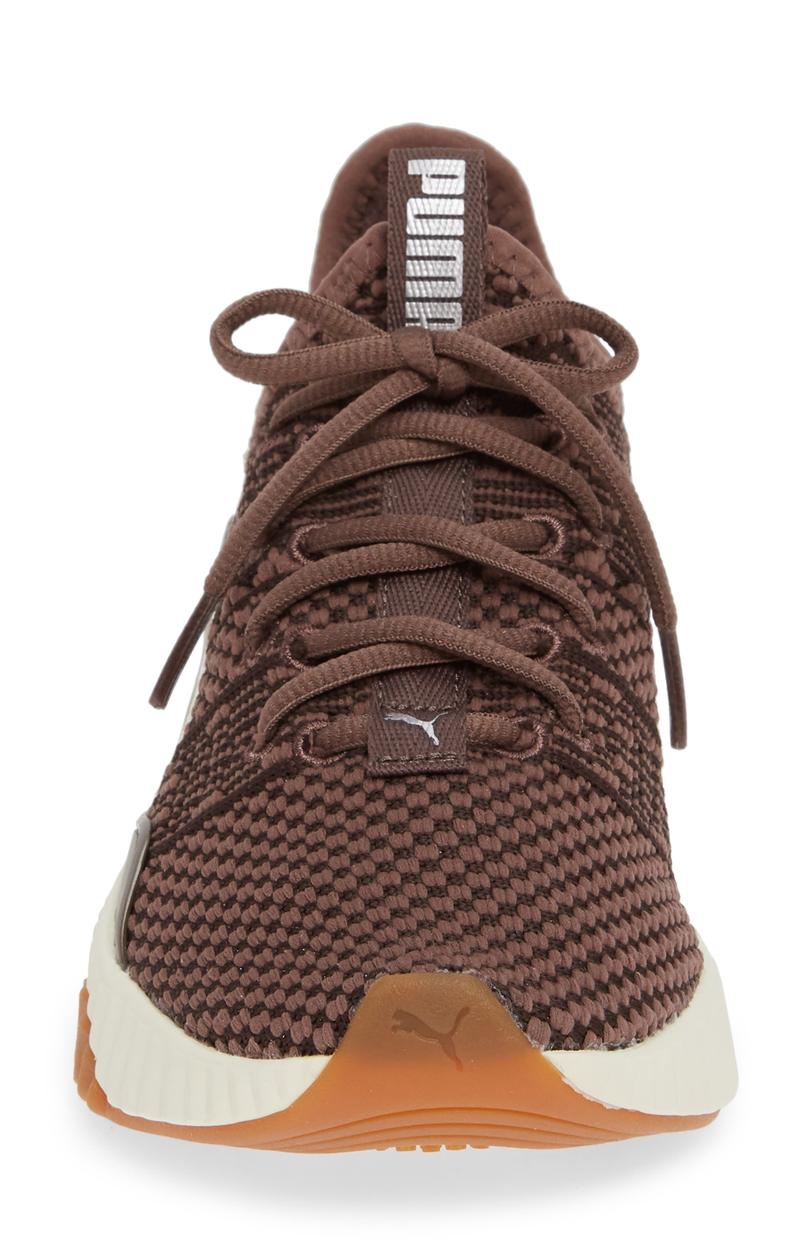 PUMA,                             Defy Luxe Sneaker,                             Alternate thumbnail 4, color,                             PEPPERCORN/ METALLIC ASH
