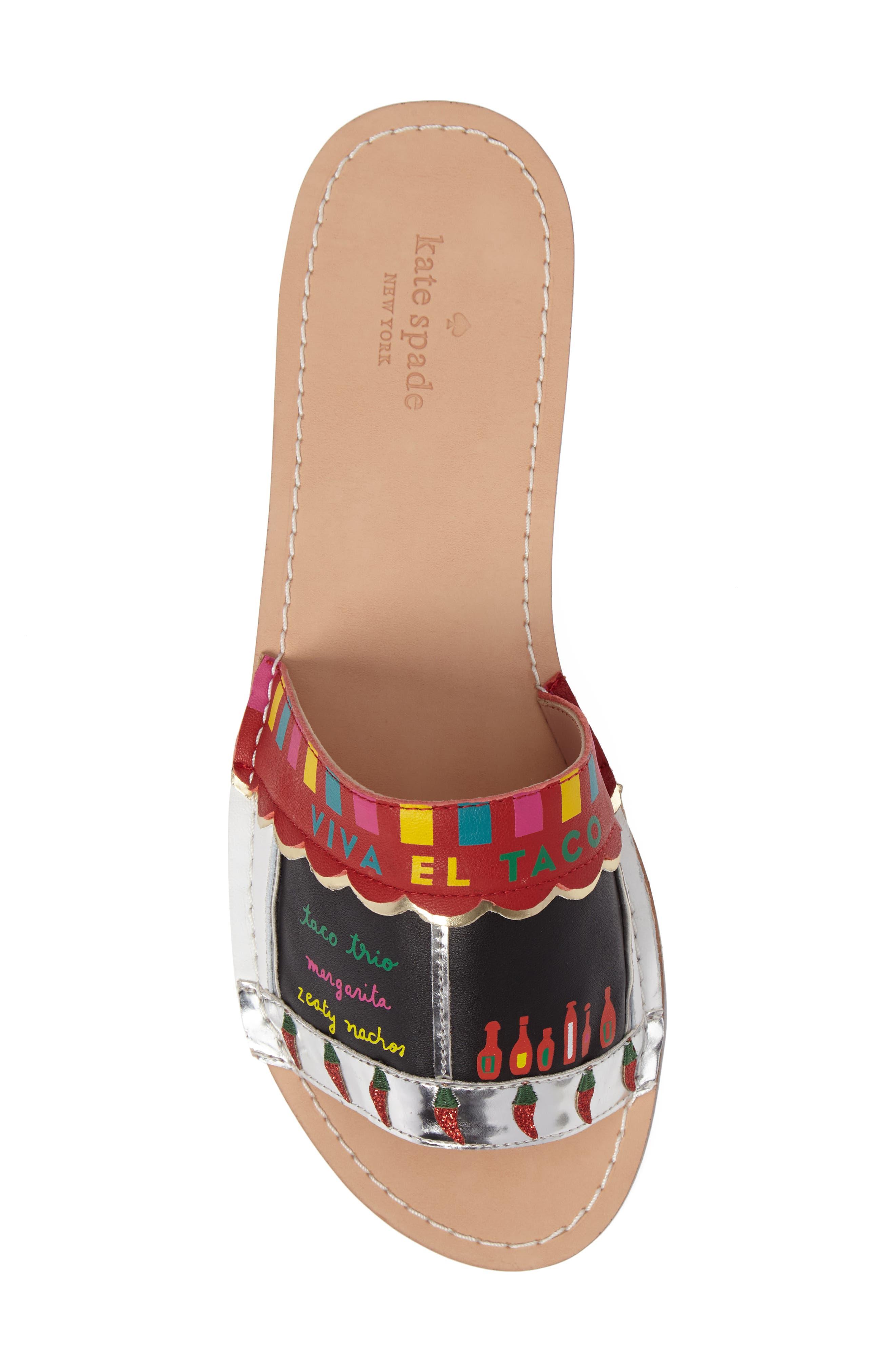 illi slide sandal,                             Alternate thumbnail 5, color,                             001