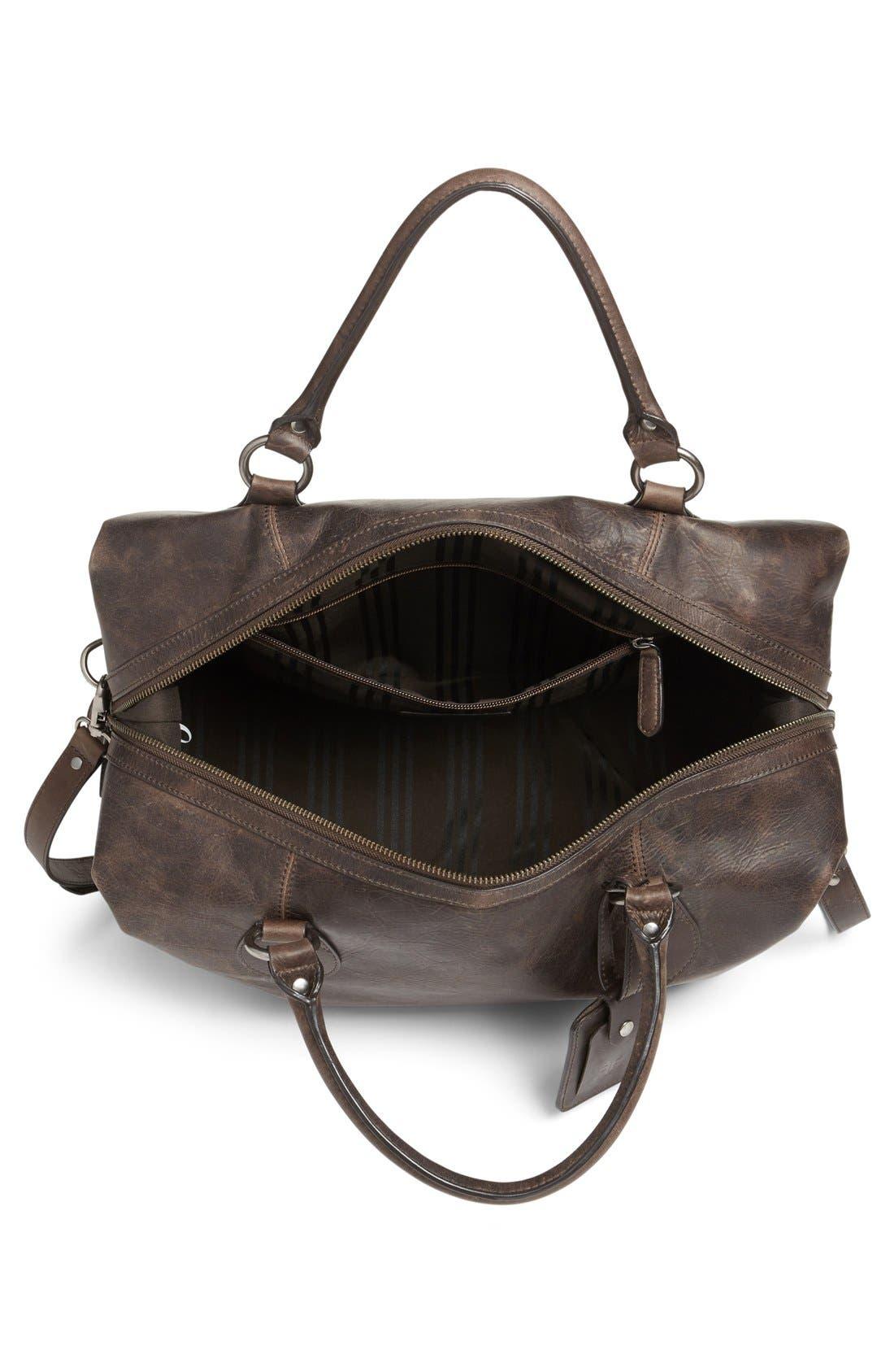 'Logan' Leather Overnight Bag,                             Alternate thumbnail 18, color,