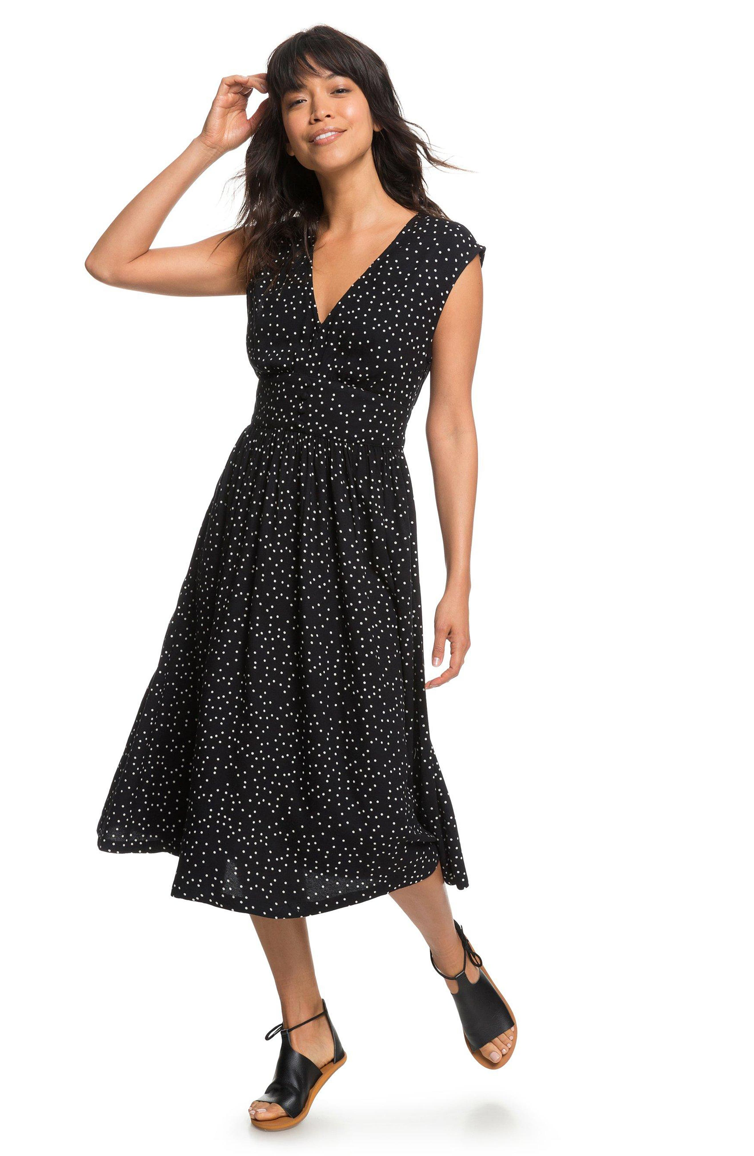 Retro Poetic Polka Dot Dress,                             Alternate thumbnail 8, color,                             001