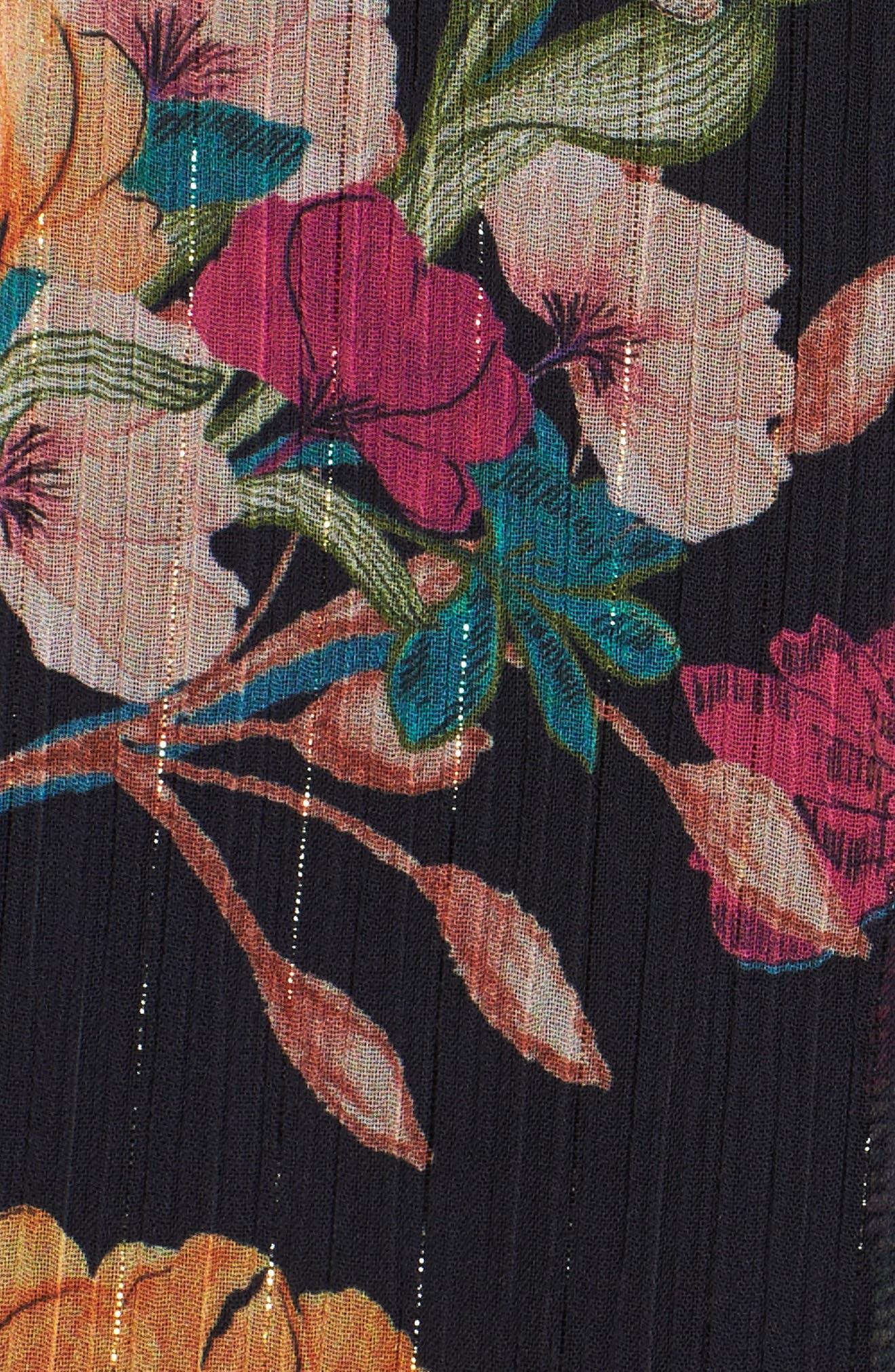 Penelope Floral Print Jumpsuit,                             Alternate thumbnail 5, color,                             NAVY MULTI
