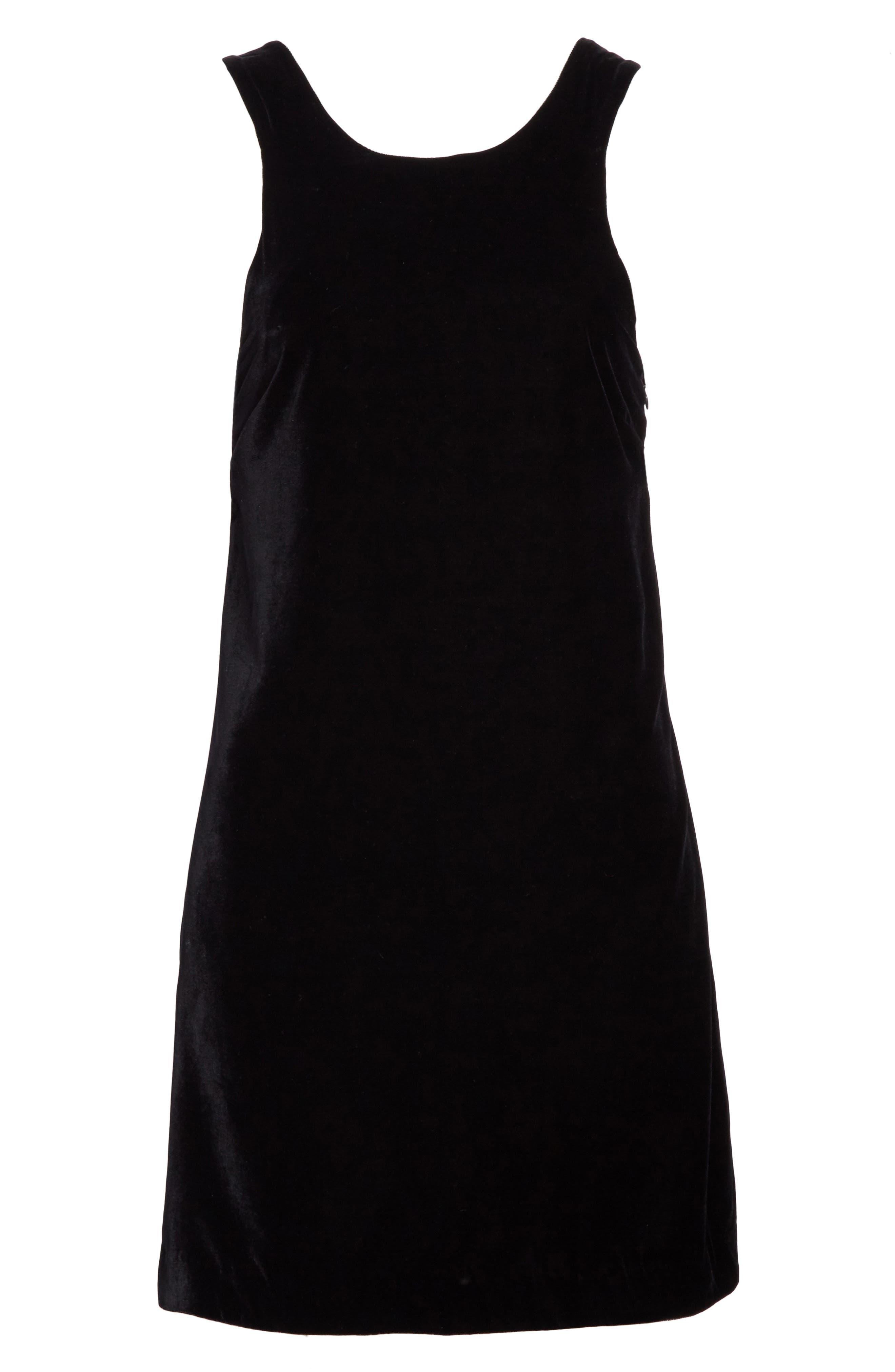Pippin Velvet Strappy Back Dress,                             Alternate thumbnail 6, color,                             001