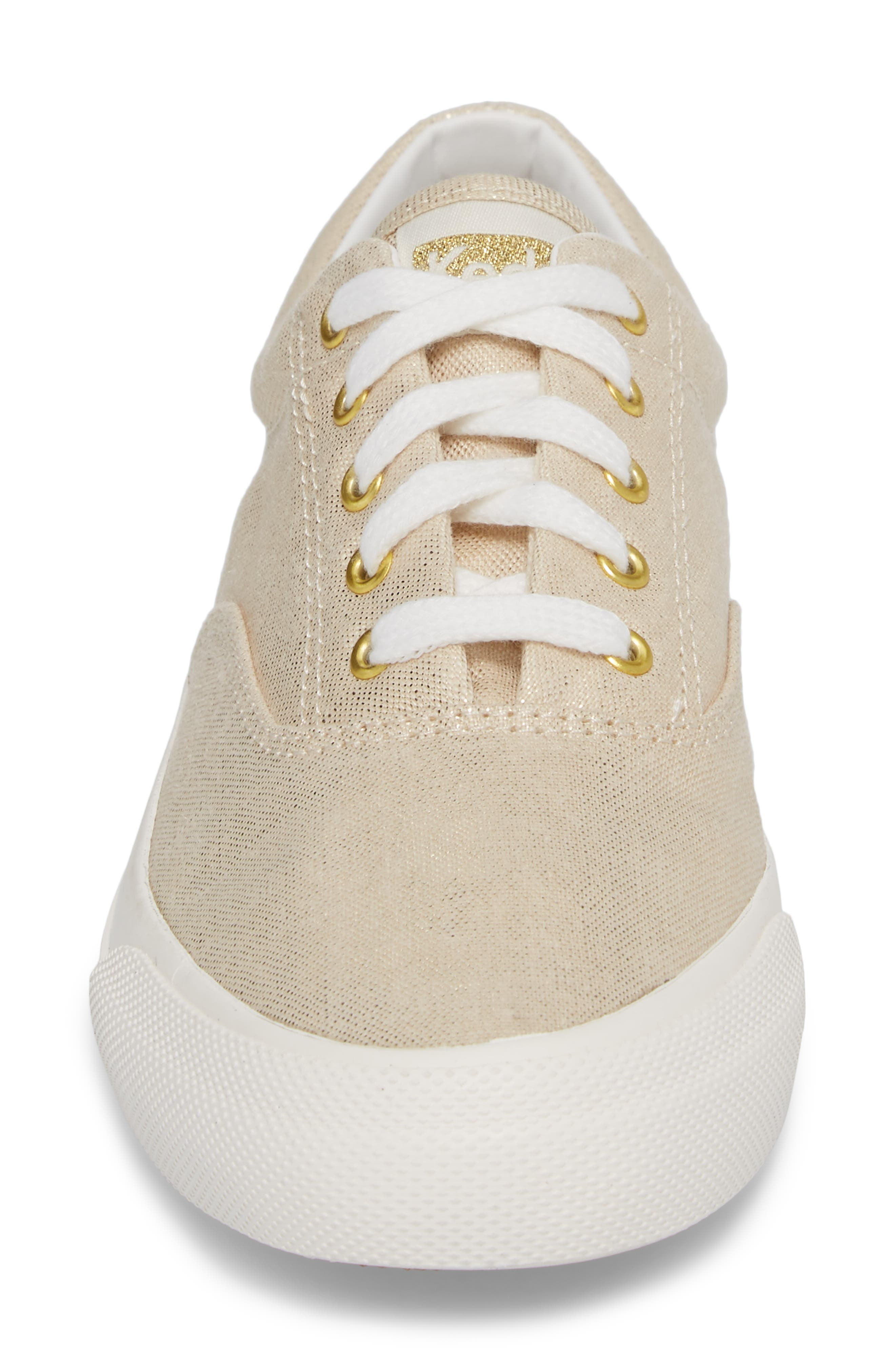 Anchor Metallic Linen Sneaker,                             Alternate thumbnail 4, color,                             710