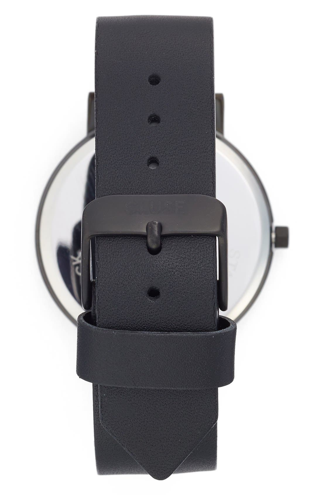 La Roche Marble Leather Strap Watch, 38mm,                             Alternate thumbnail 2, color,                             001