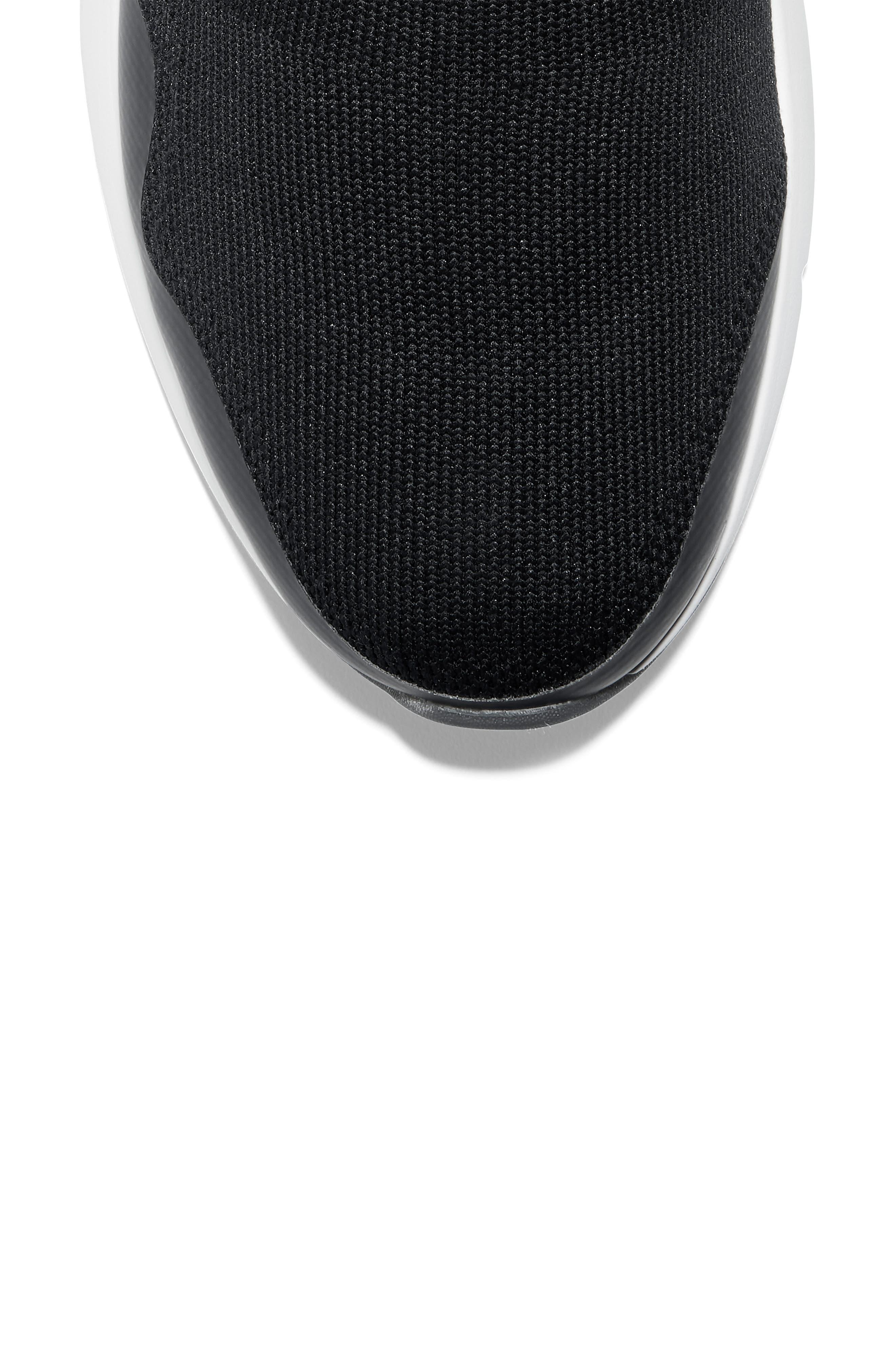 ZeroGrand Motion Slip-On Sneaker,                             Alternate thumbnail 7, color,                             BLACK LEATHER