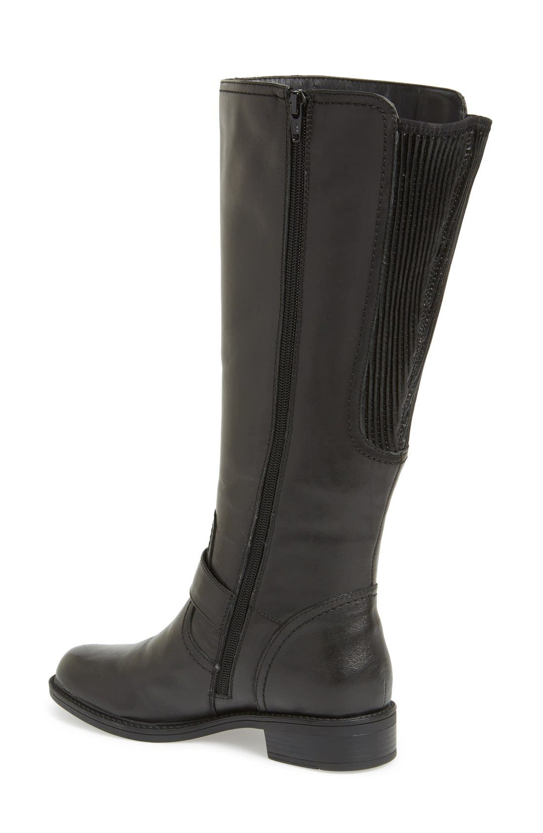 'Branson' Tall Riding Boot,                             Alternate thumbnail 4, color,                             001