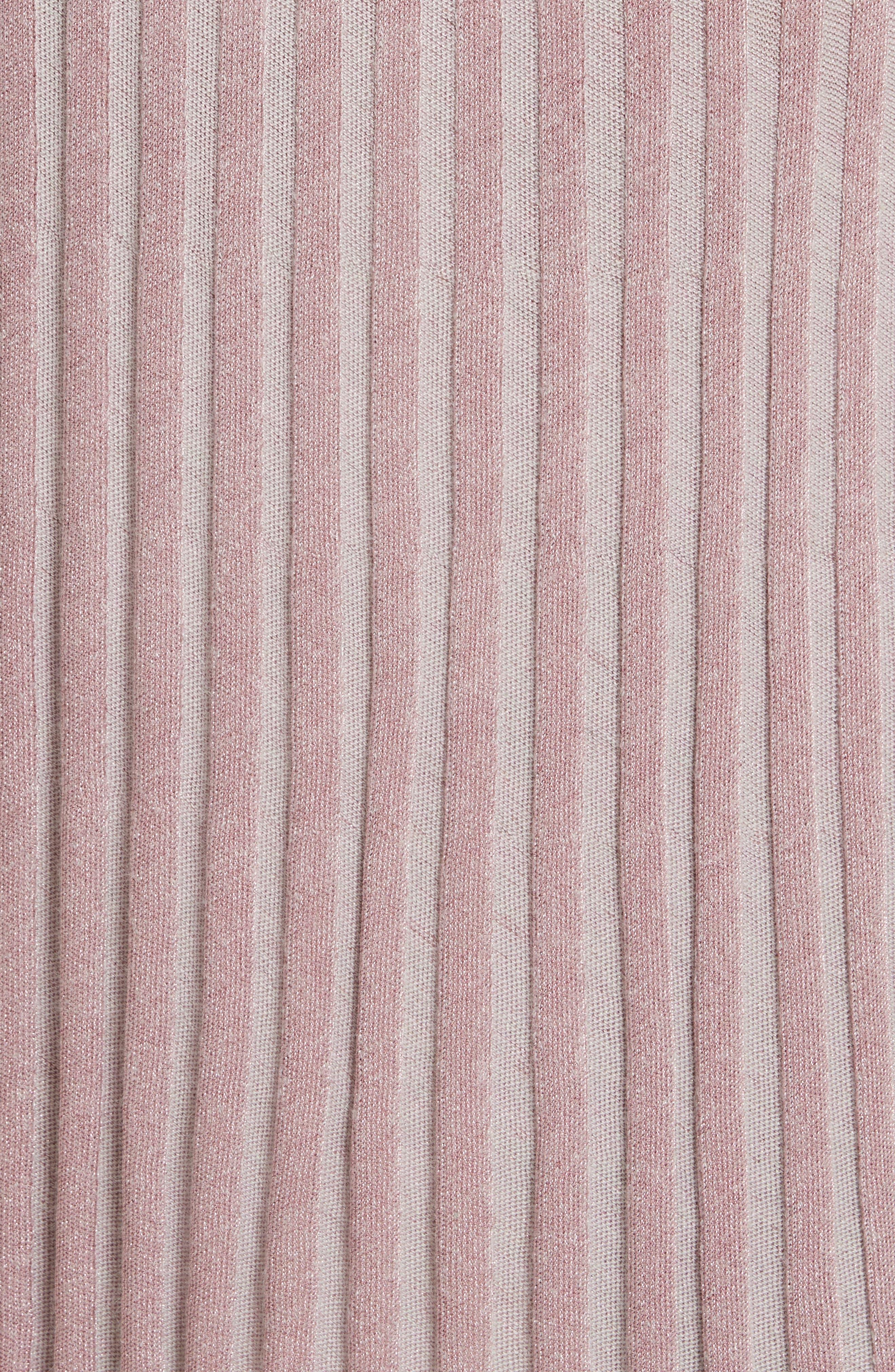 Metallic Ribbed Knit Skirt,                             Alternate thumbnail 9, color,