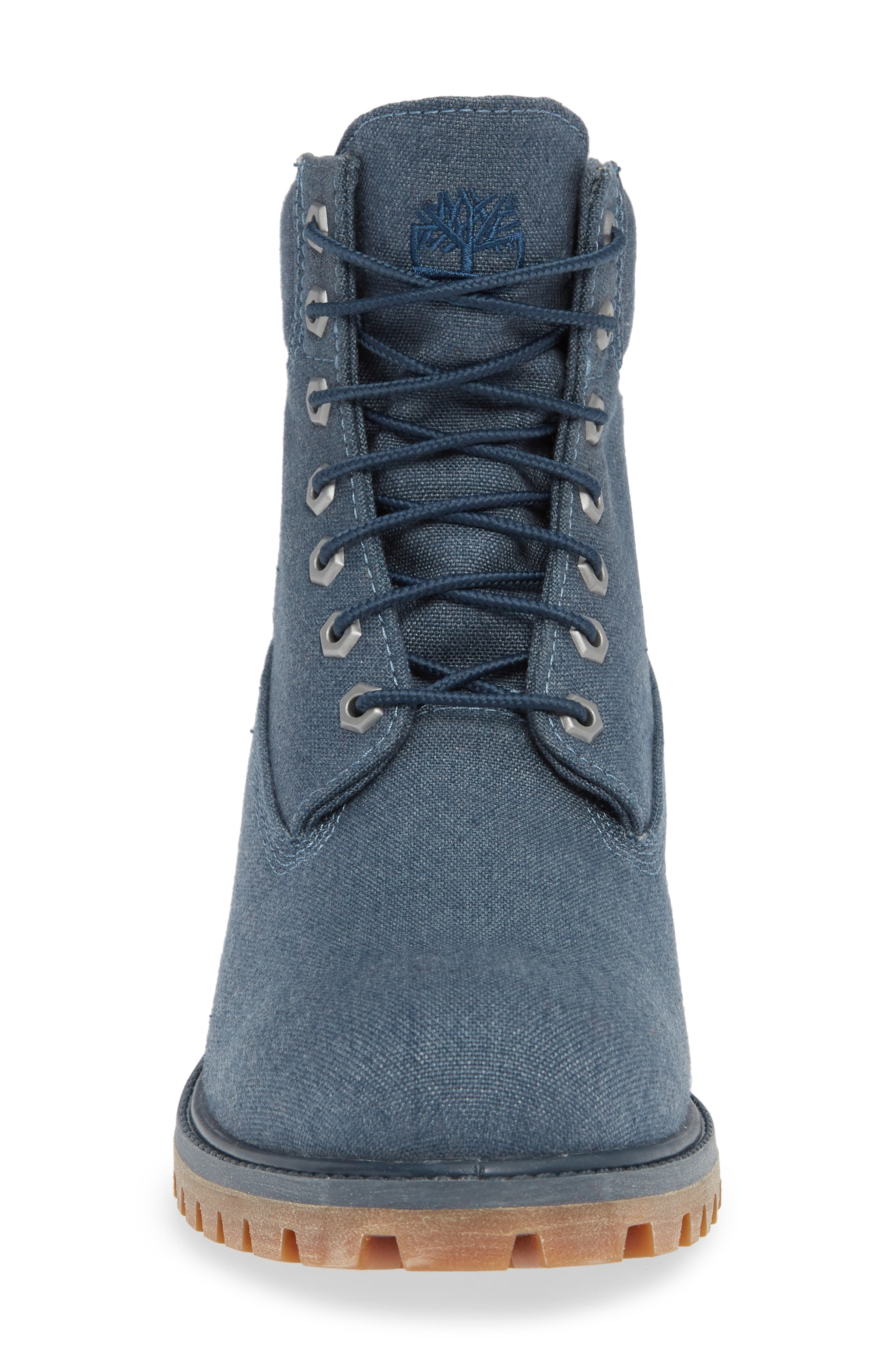 Premium Plain Toe Boot,                             Alternate thumbnail 4, color,                             MIDNIGHT NAVY THREAD