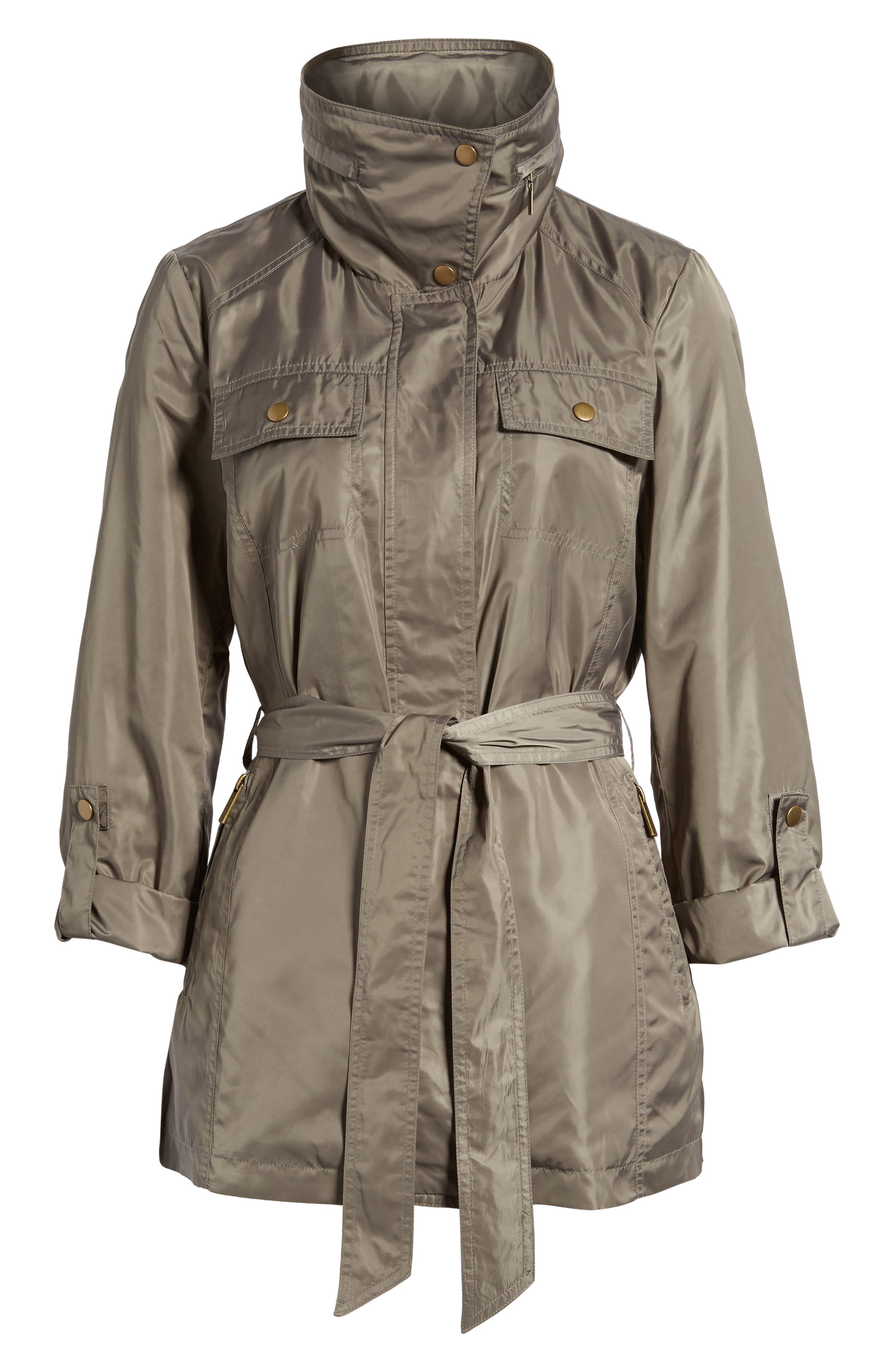 Belted Lightweight Jacket,                             Alternate thumbnail 18, color,