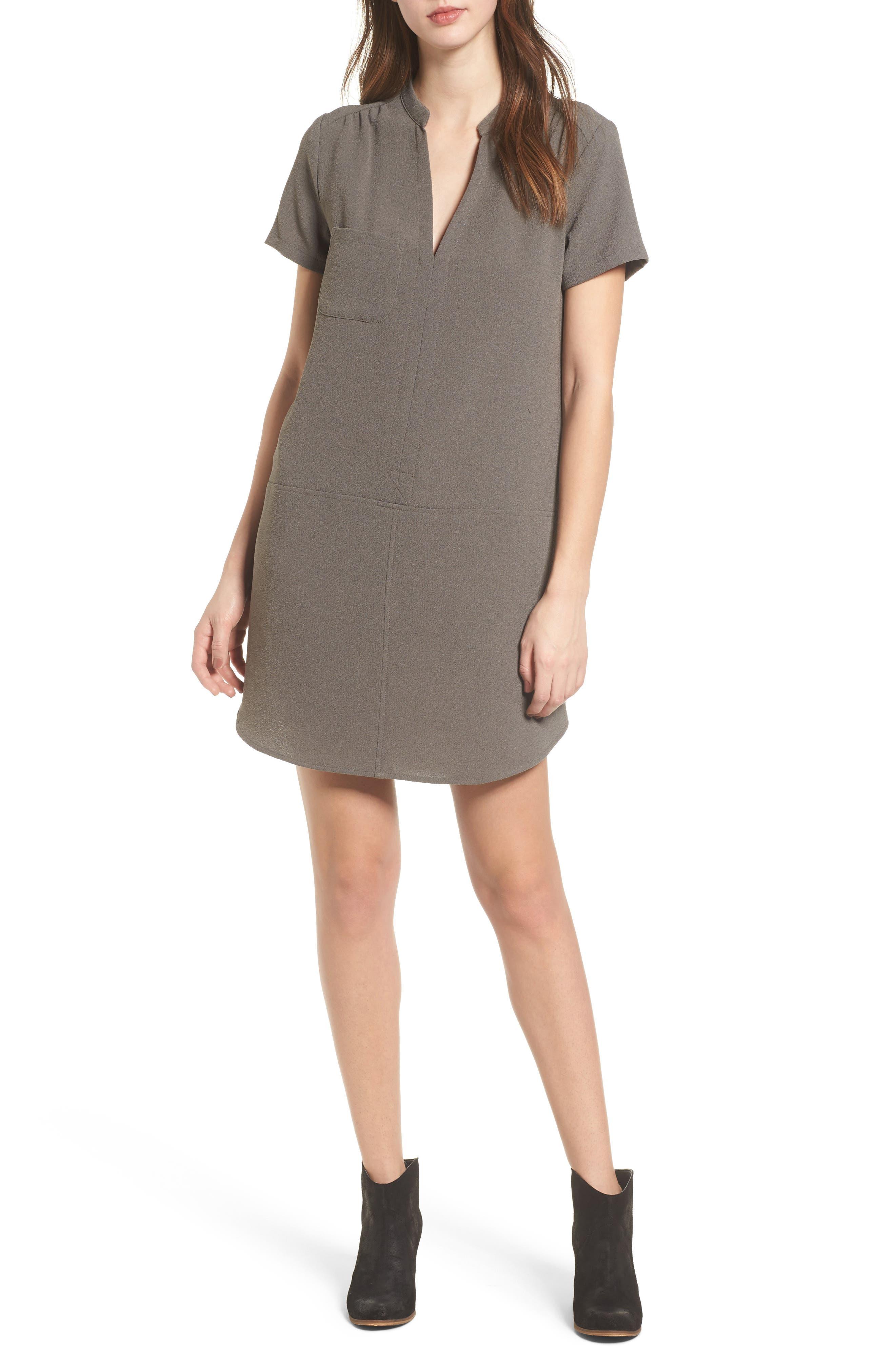 Hailey Crepe Dress,                             Main thumbnail 2, color,