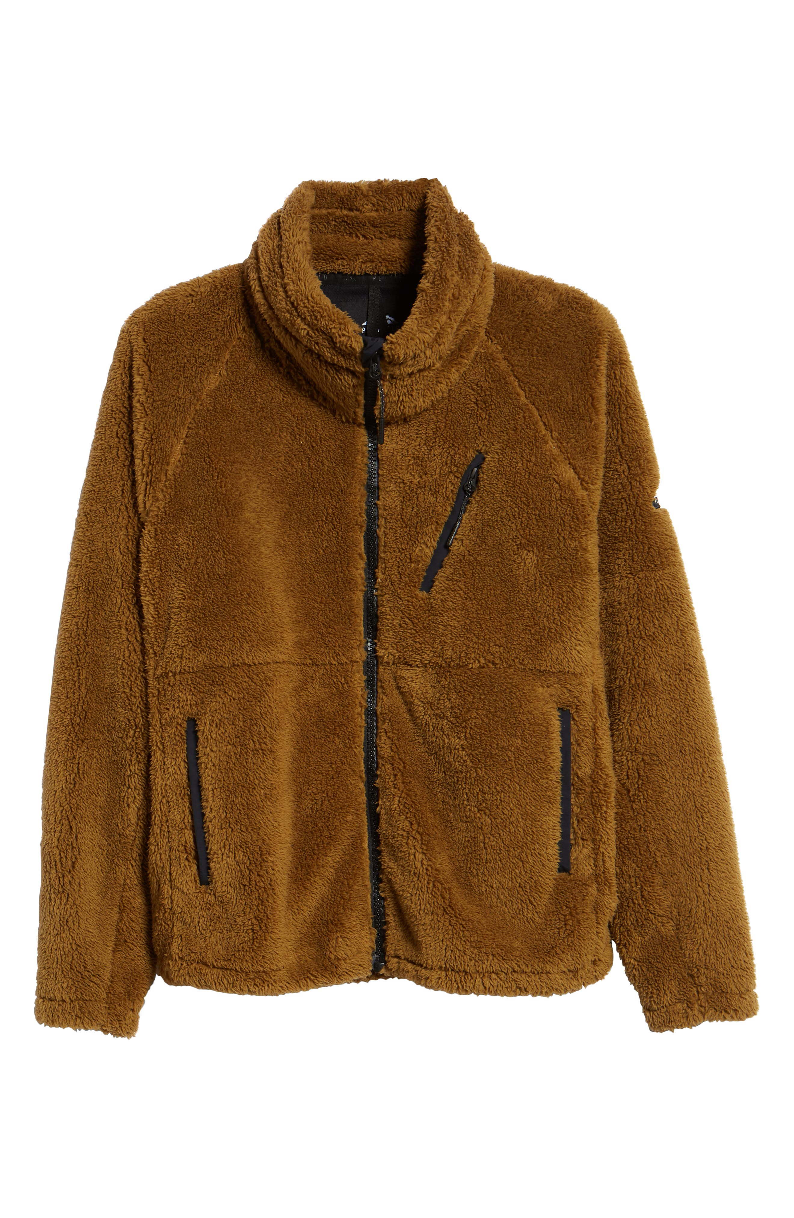 Breakheart Zip Fleece Jacket,                             Alternate thumbnail 6, color,                             BREEN
