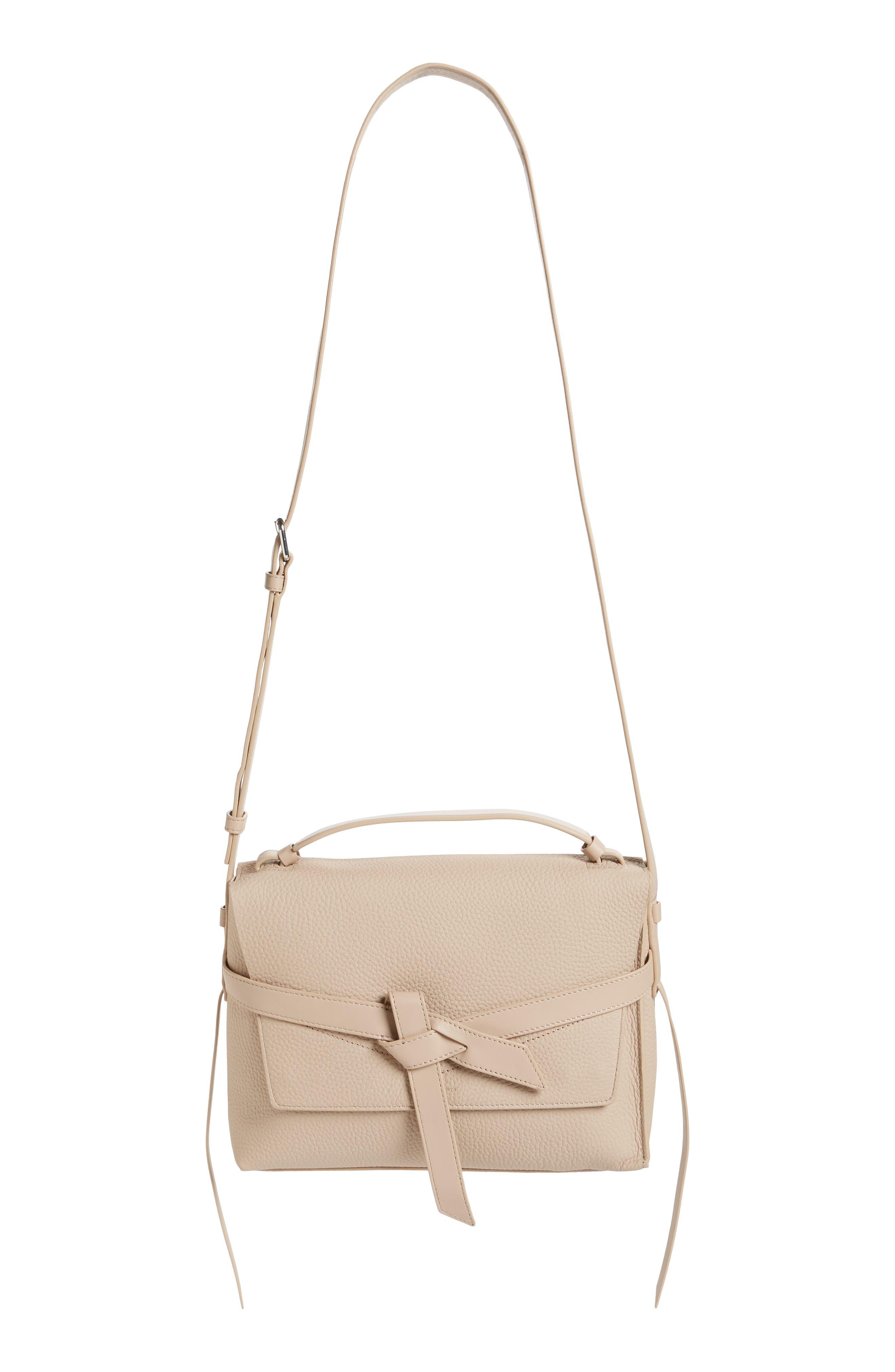 Cami Leather Shoulder Bag,                             Main thumbnail 1, color,                             NATURAL