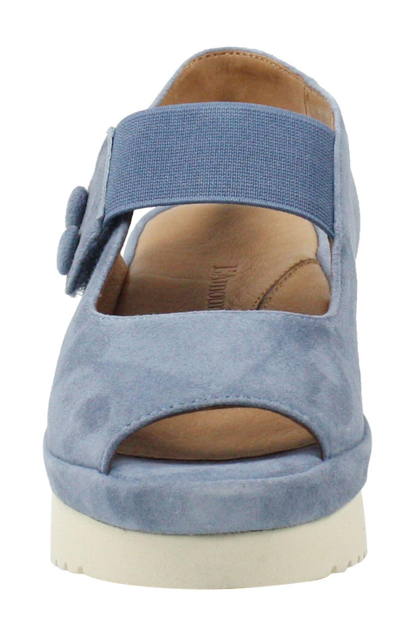 Adalicia Platform Sandal,                             Alternate thumbnail 4, color,                             INK KID SUEDE