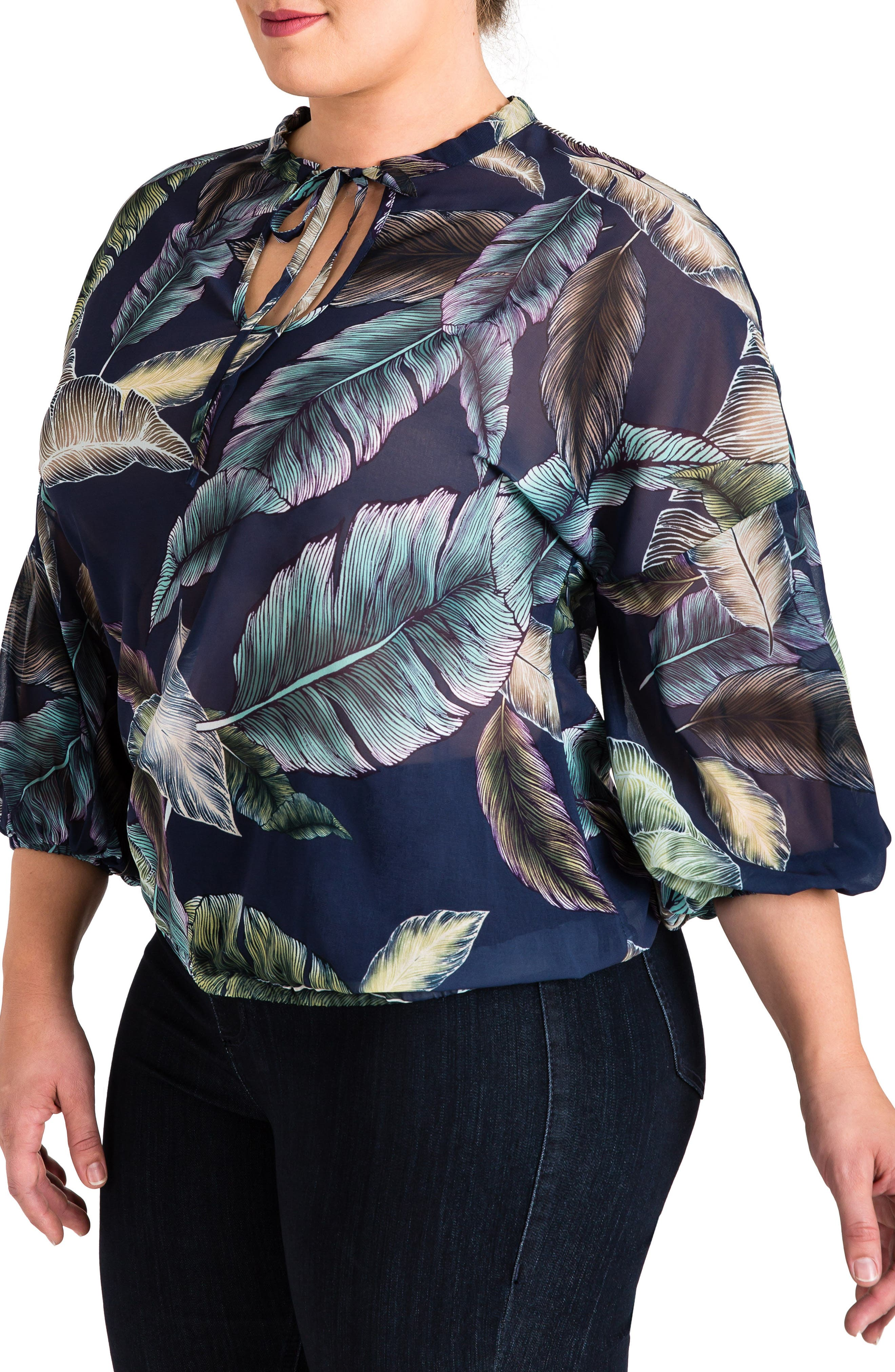 Lizzy Print Top,                             Alternate thumbnail 3, color,                             950
