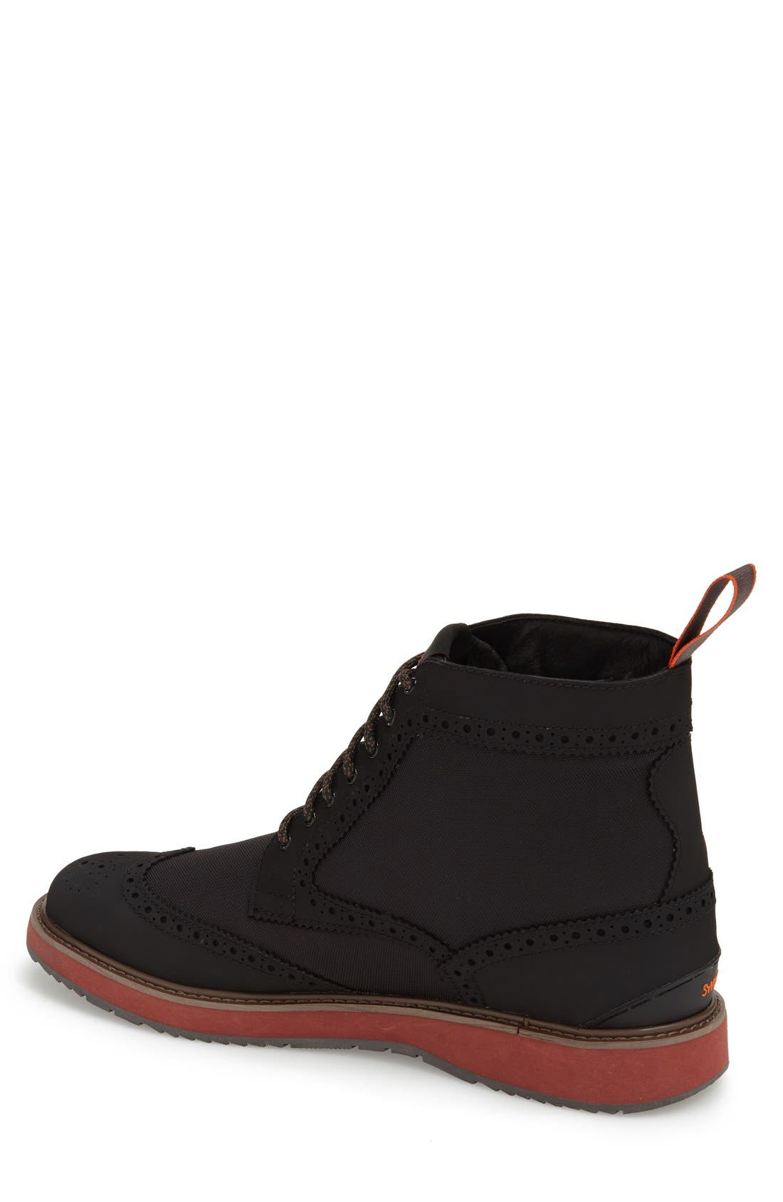 'Barry' Wingtip Boot,                             Alternate thumbnail 3, color,                             001