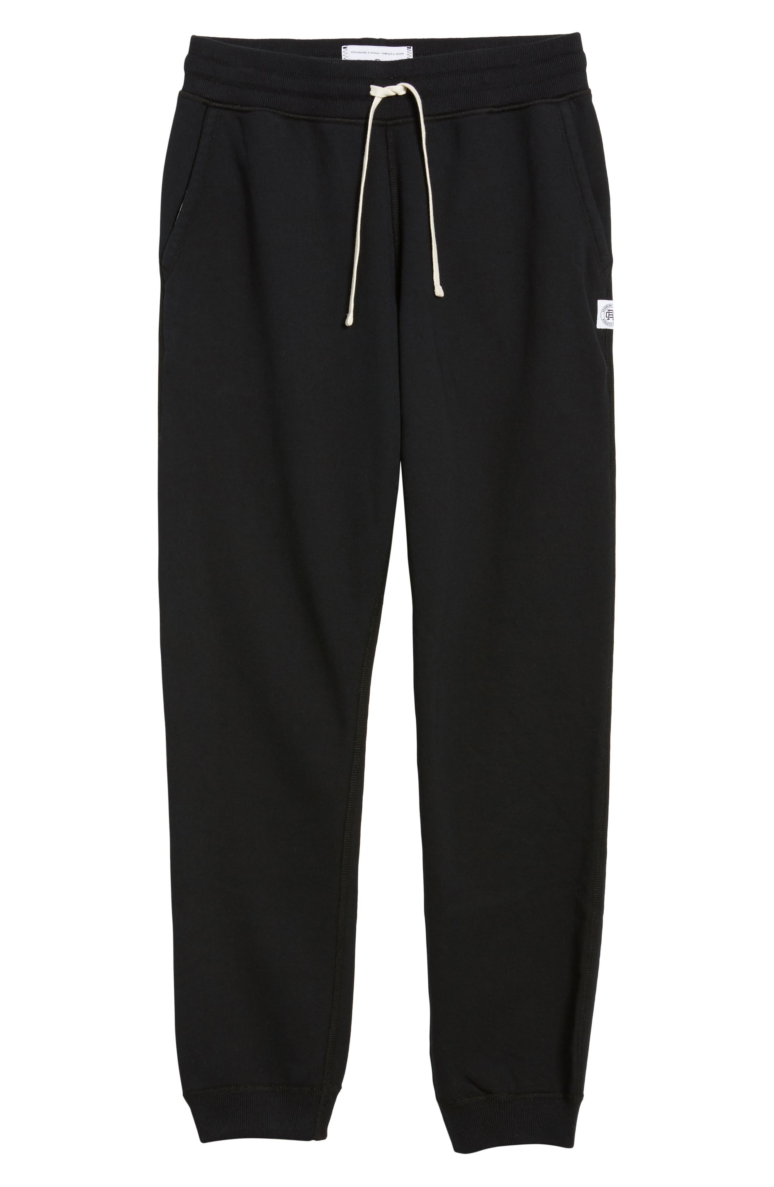 Slim Fit Sweatpants,                             Main thumbnail 1, color,                             BLACK