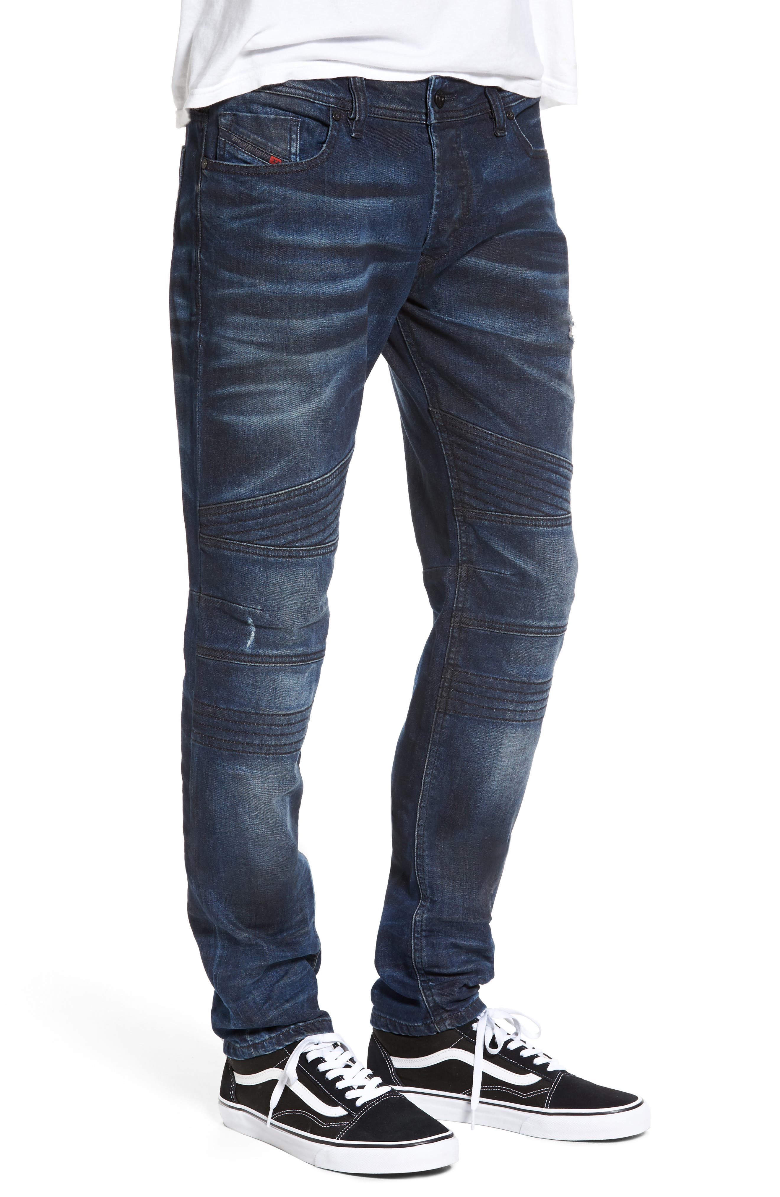 Fourk Skinny Fit Jeans,                             Alternate thumbnail 3, color,                             400