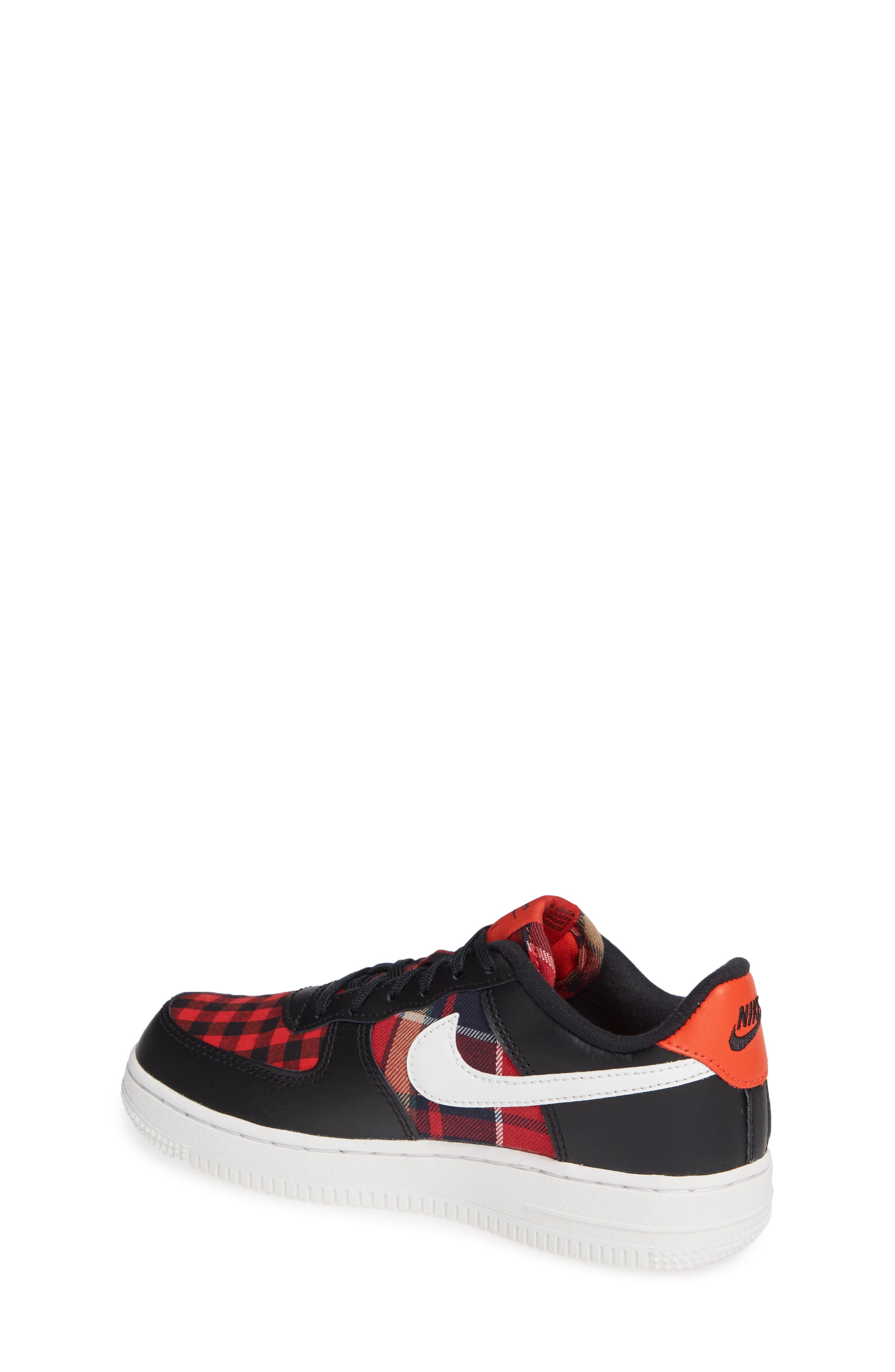 Air Force 1 LV8 Sneaker,                             Alternate thumbnail 2, color,                             BLACK SUMMIT WHITE RED