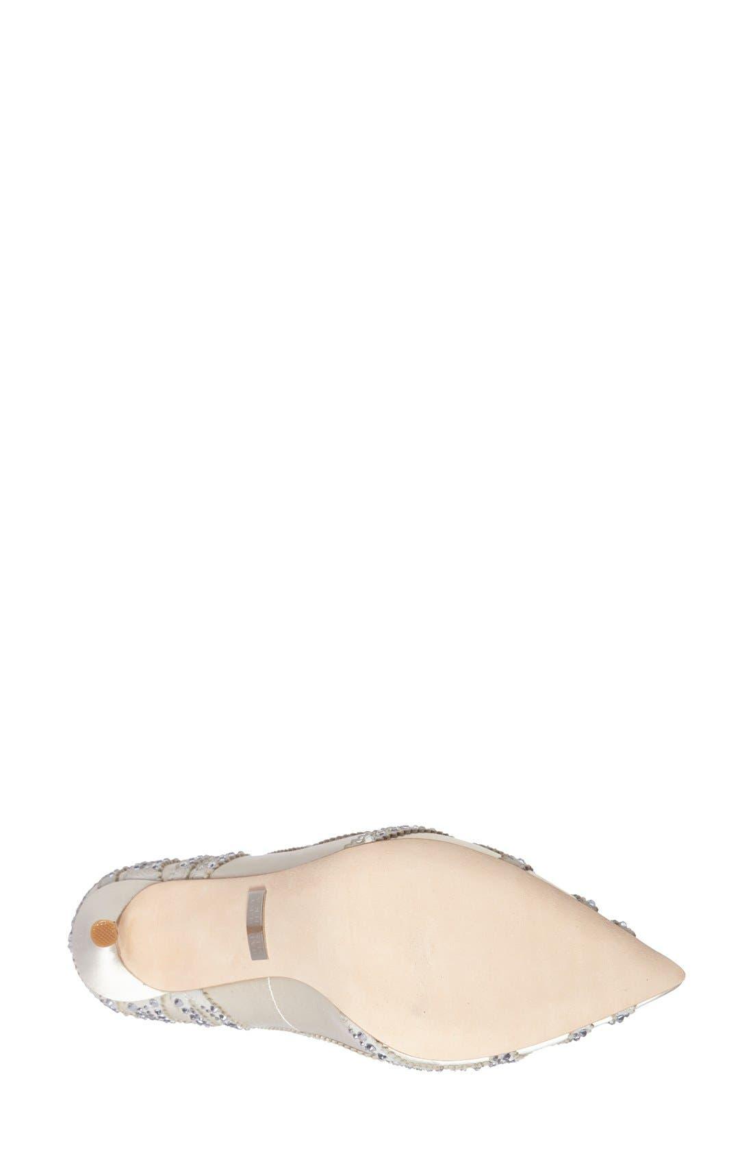 BadgleyMischka'Rouge' Pointy Toe Pump,                             Alternate thumbnail 2, color,                             IVORY