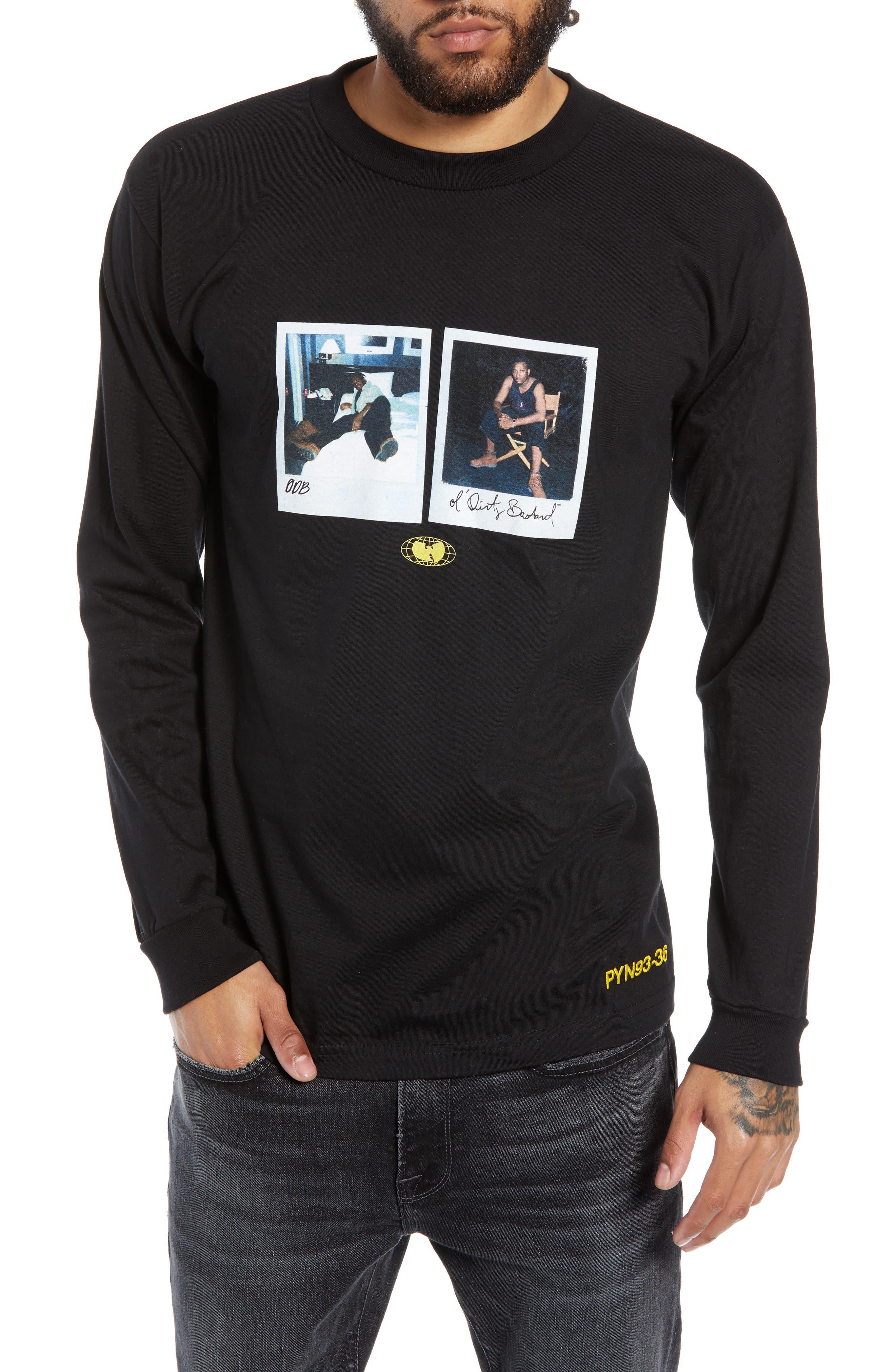 WU WEAR Odb Photo Graphic Long Sleeve T-Shirt in Black