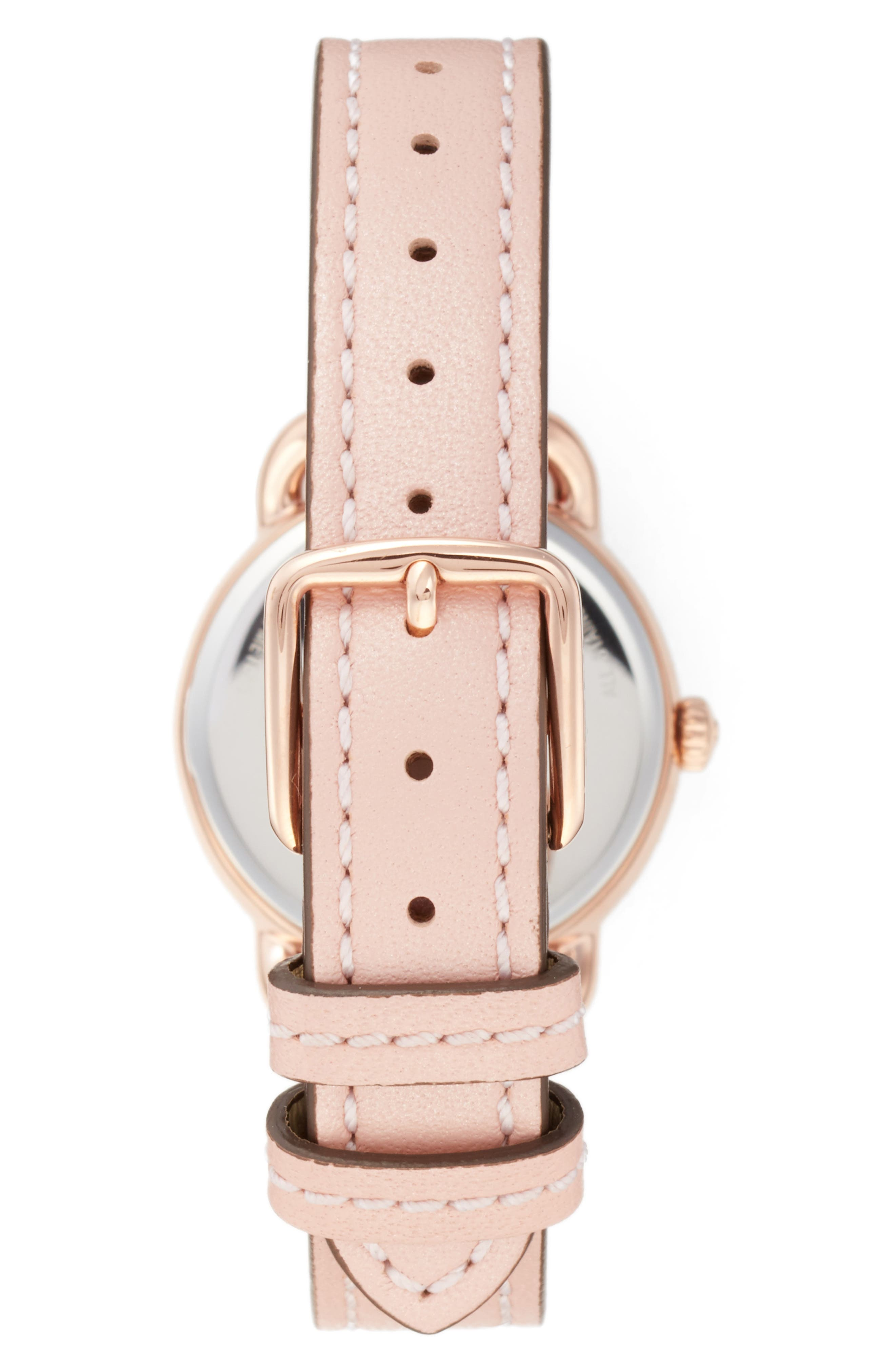 Delancey Leather Strap Watch, 28mm,                             Alternate thumbnail 6, color,