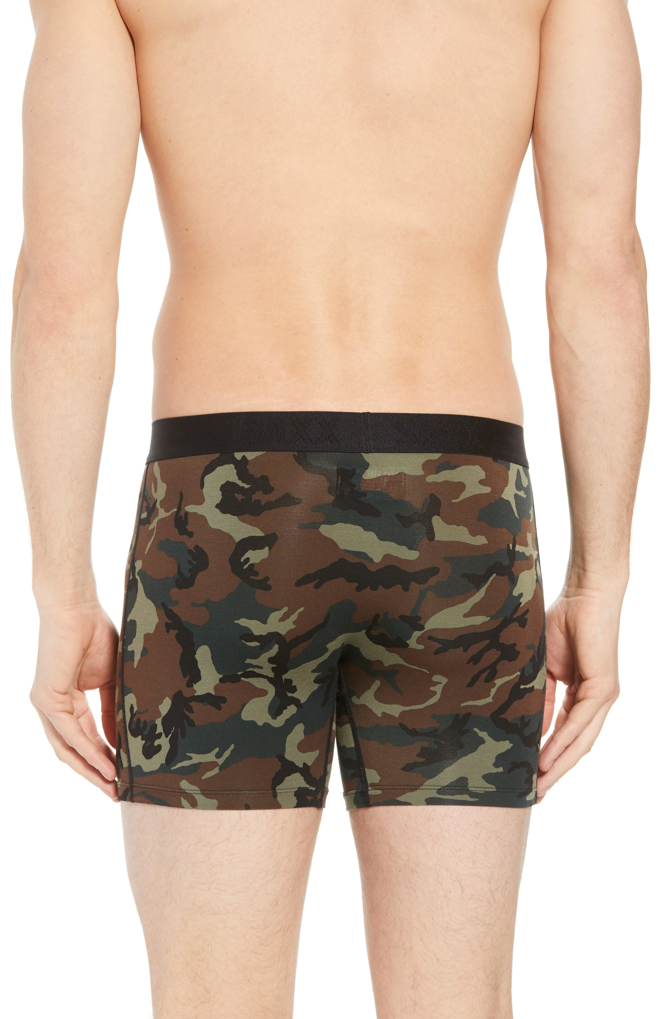 'Vibe' Stretch Boxer Briefs,                             Alternate thumbnail 2, color,                             WOODLAND