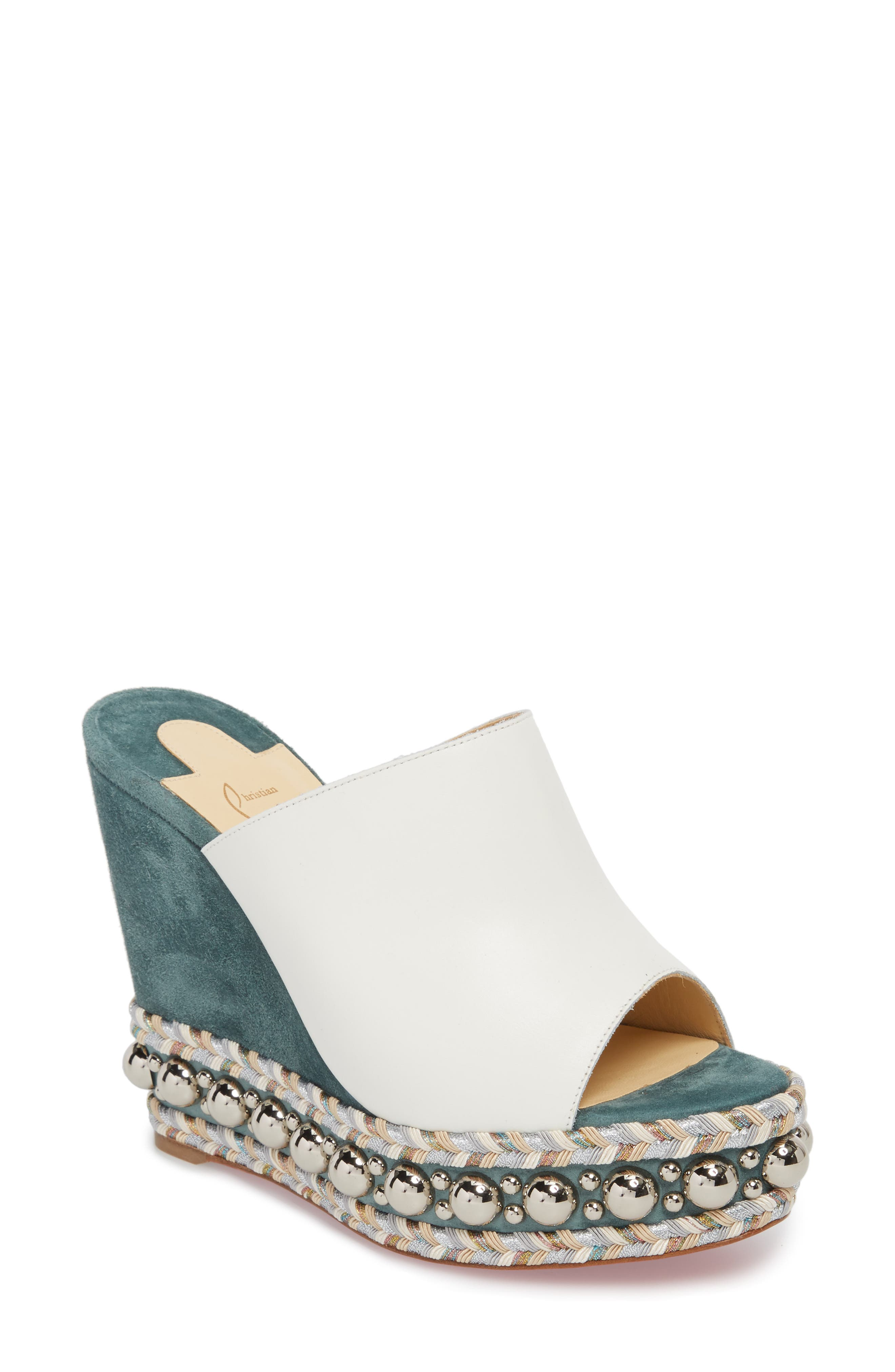 Janibasse Embellished Wedge Mule,                             Main thumbnail 1, color,                             710