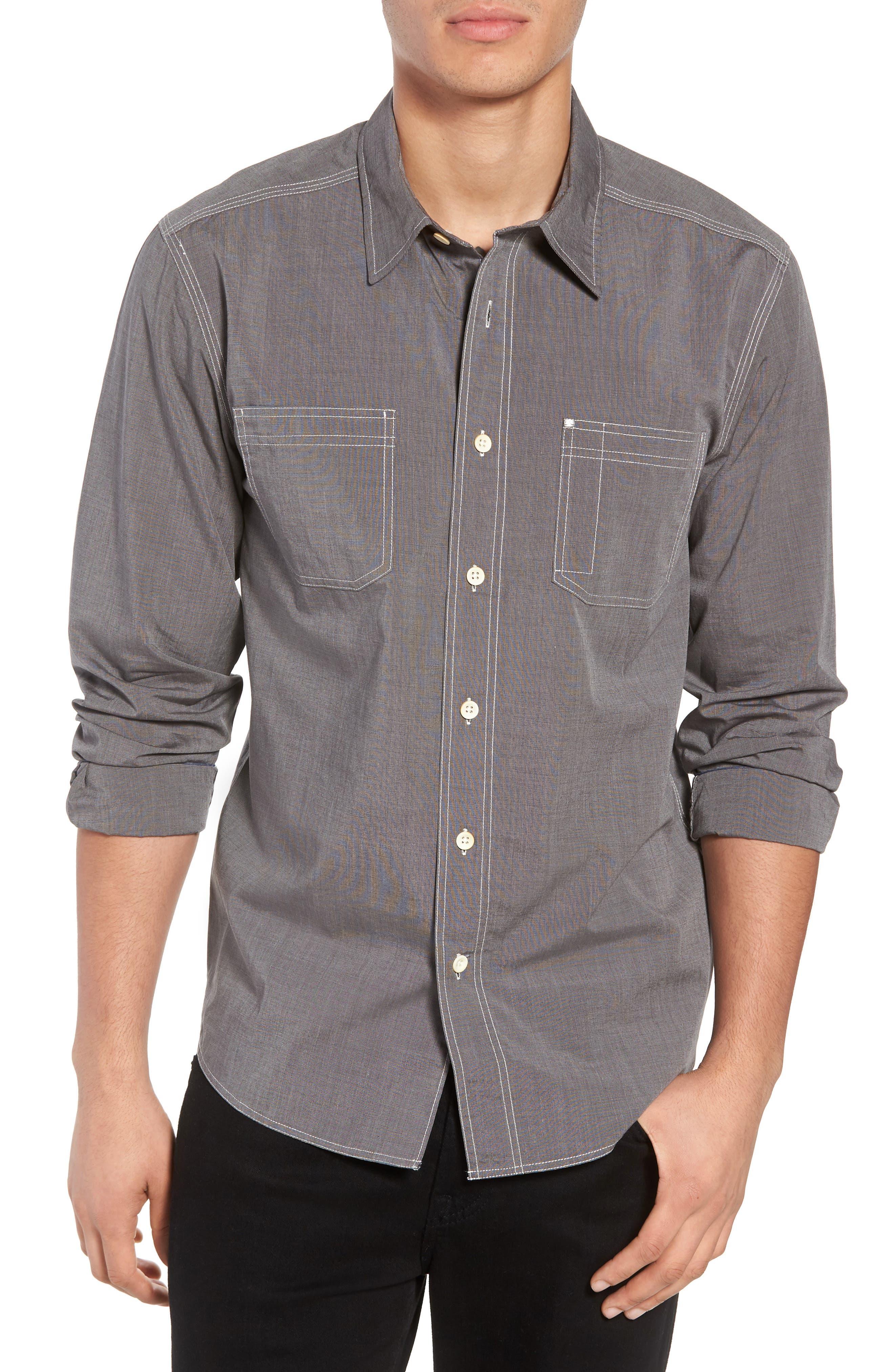 Seaside Regular Fit Sport Shirt,                         Main,                         color, COAL