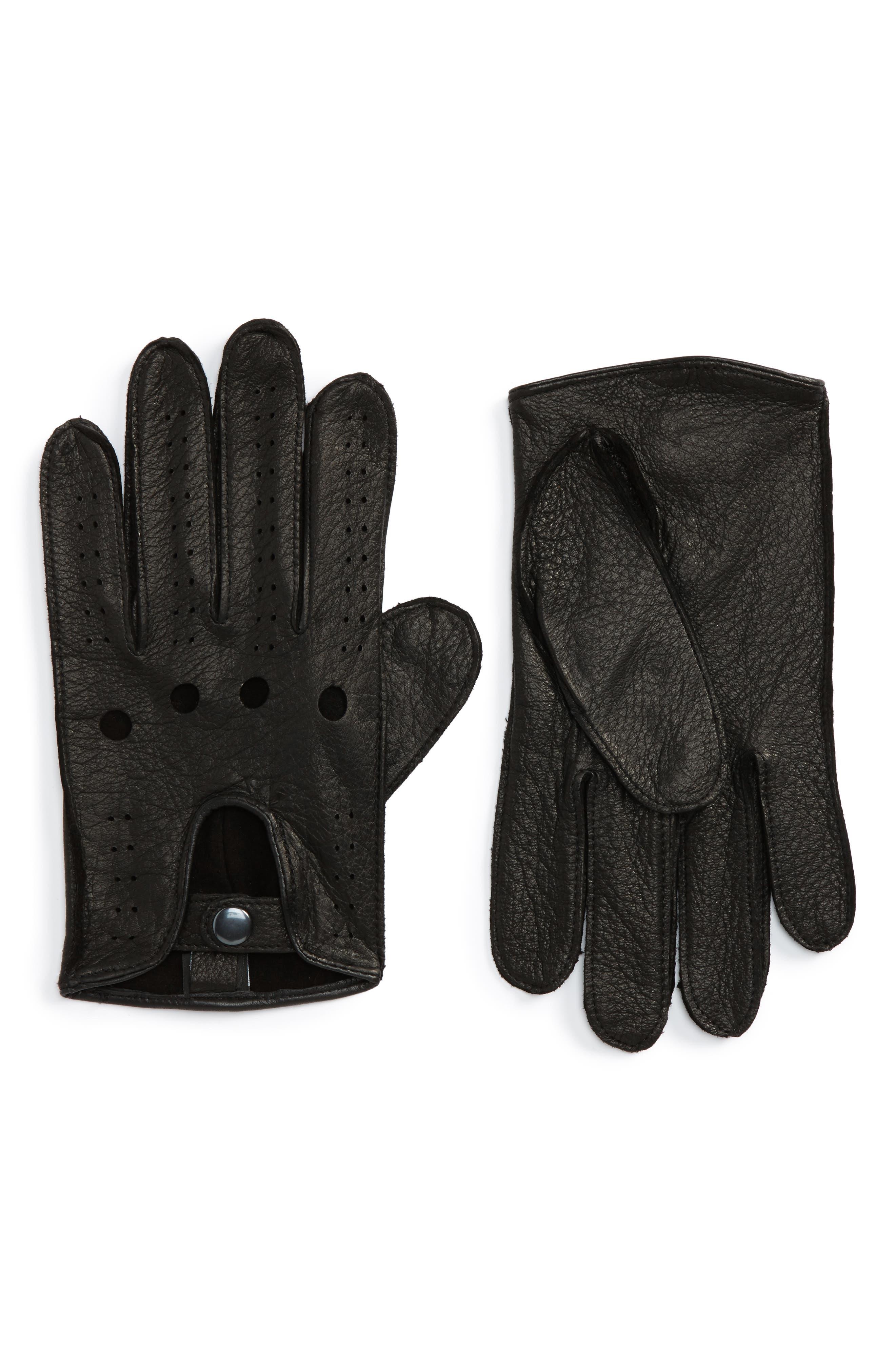 History of Vintage Men's Gloves – 1900 to 1960s Mens Nordstrom Mens Shop Leather Driving Glove $44.75 AT vintagedancer.com