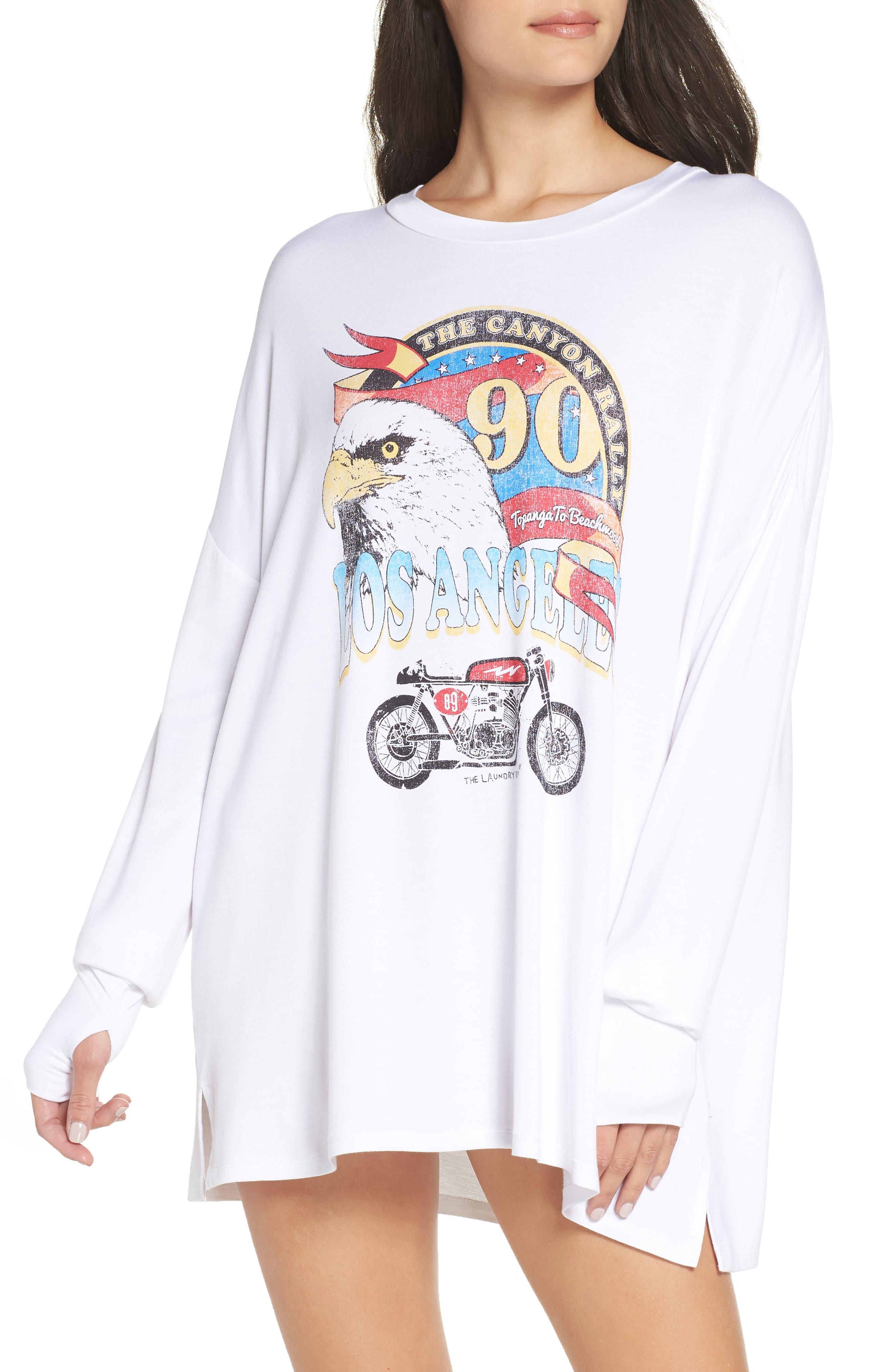 Canyon Rally Sleep Shirt,                             Main thumbnail 1, color,                             WHITE
