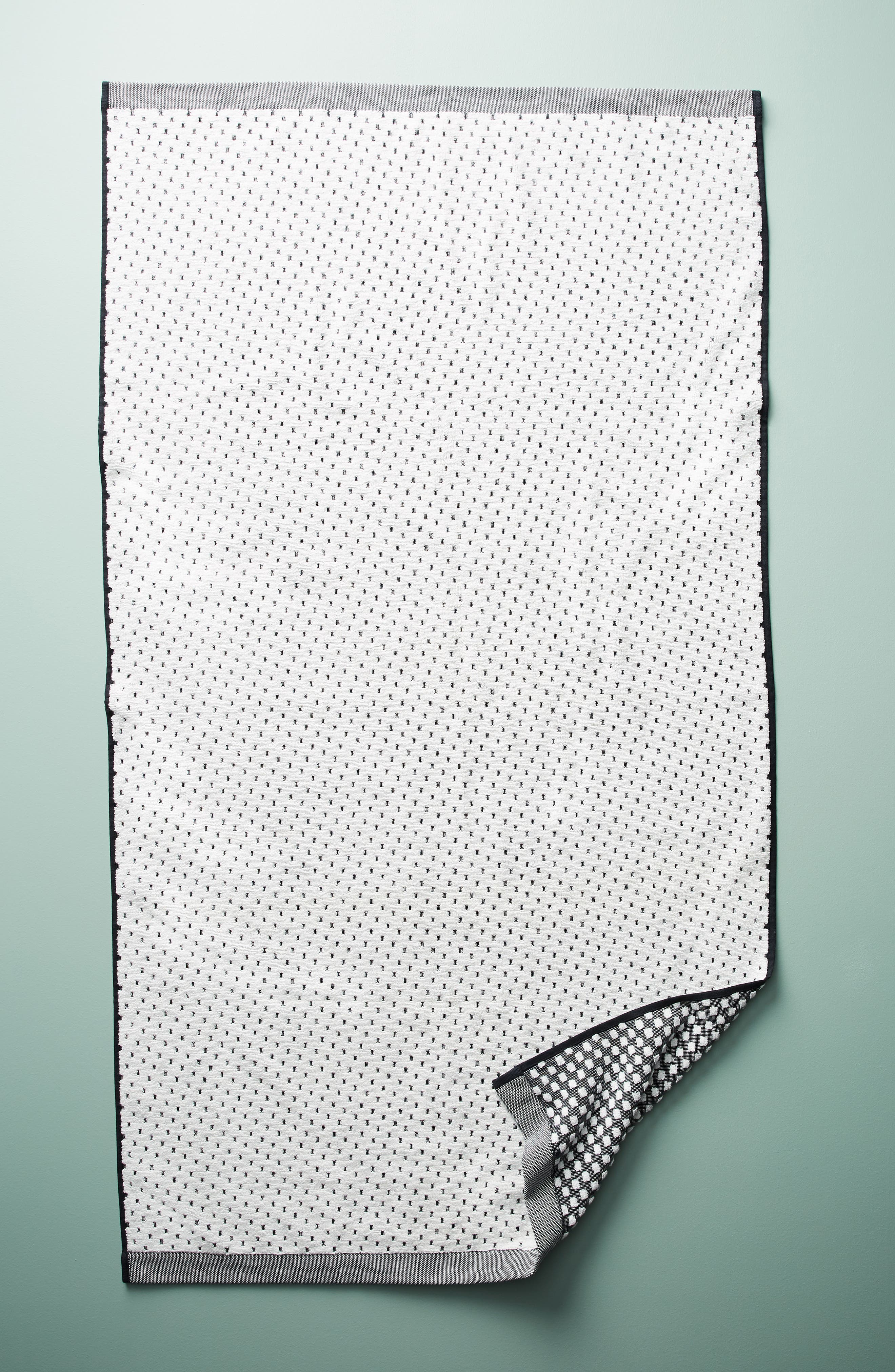 Dot Jacquard Bath Towel,                             Alternate thumbnail 5, color,                             001
