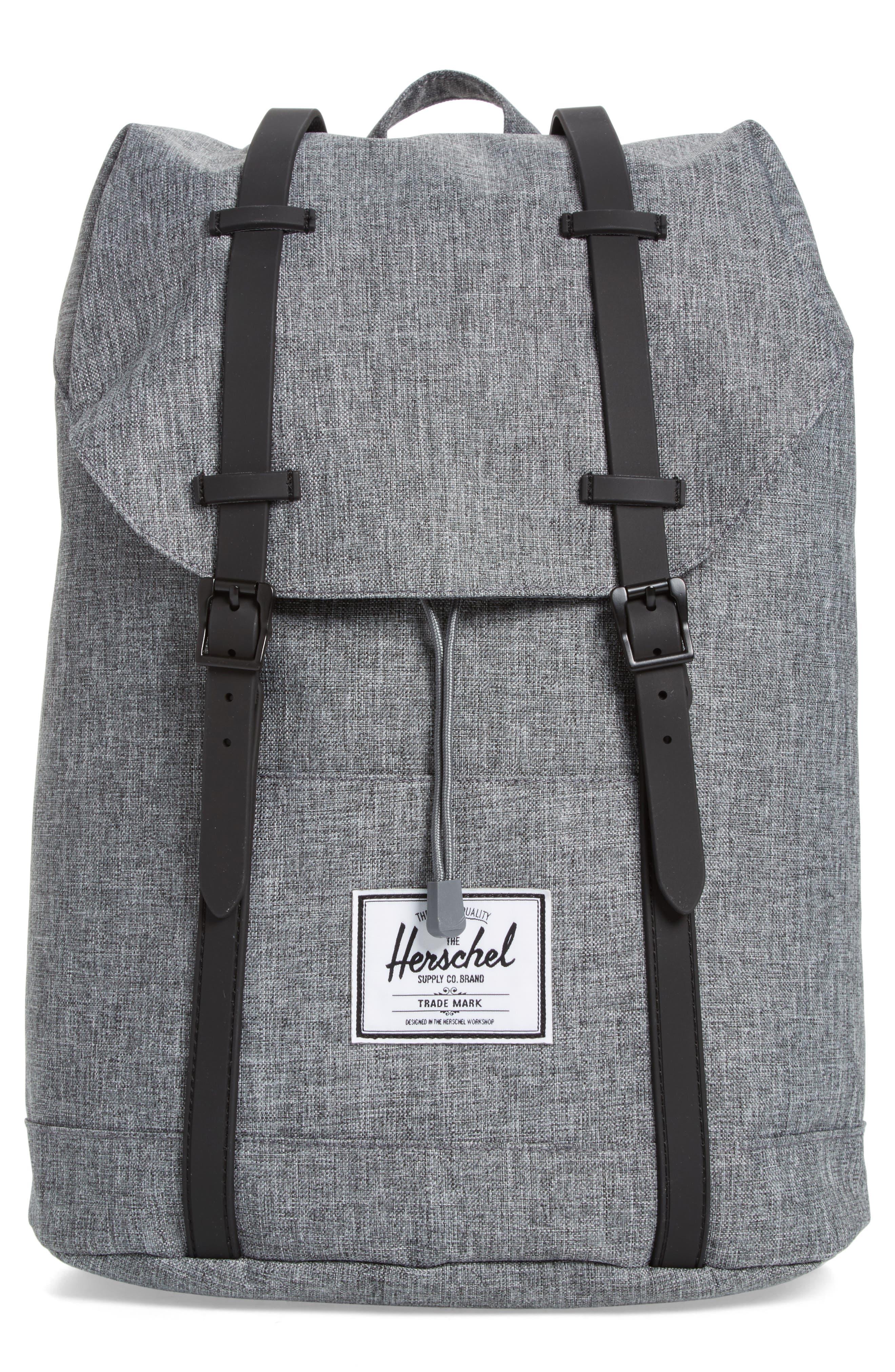 Retreat Backpack,                         Main,                         color, RAVEN CROSSHATCH