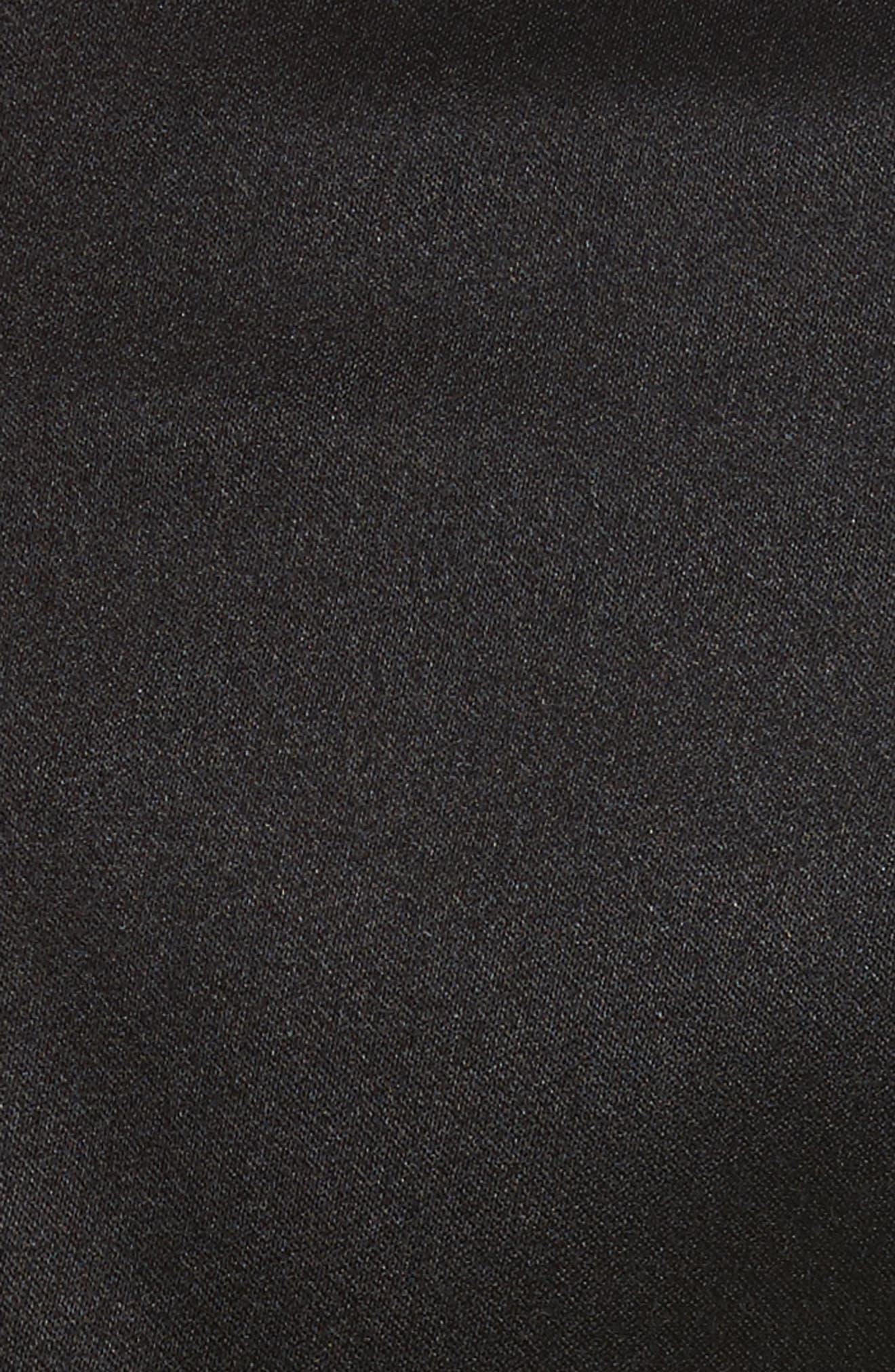 Side Zip Midi Skirt,                             Alternate thumbnail 5, color,                             001