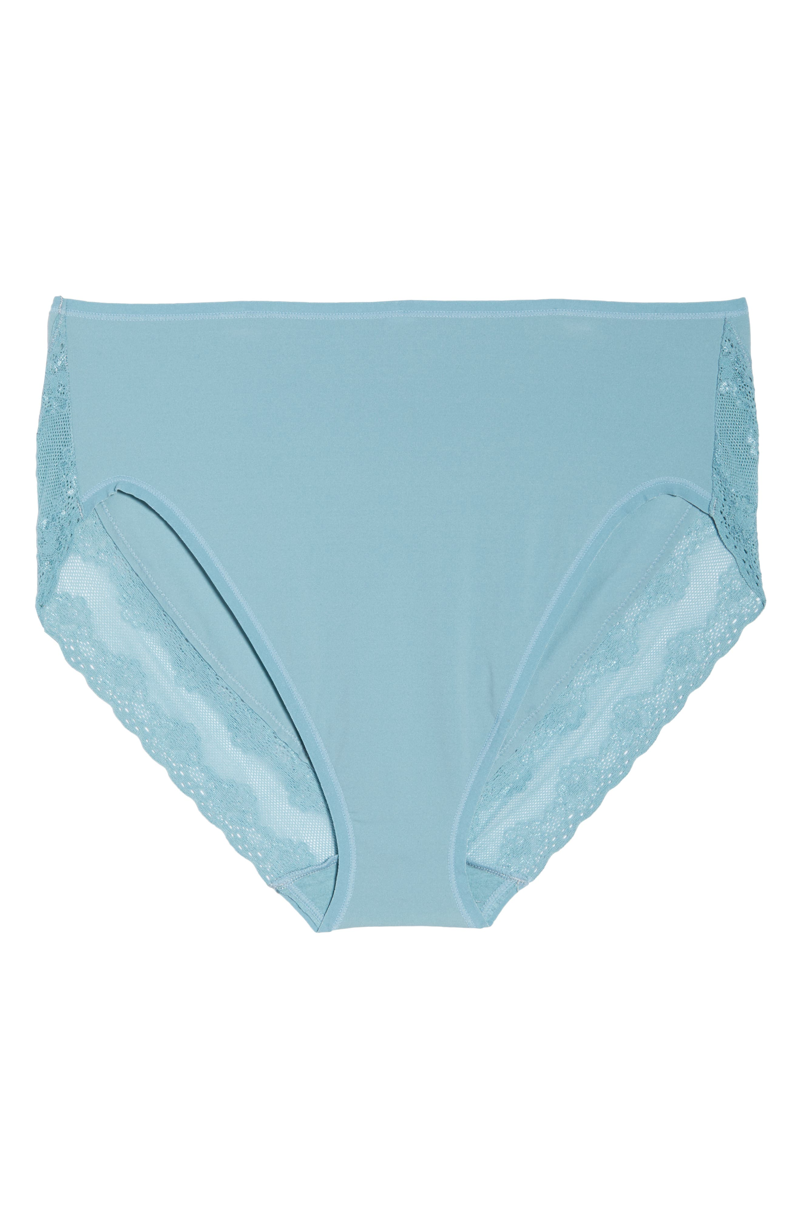 Bliss Perfection French Cut Briefs,                             Alternate thumbnail 6, color,                             SMOKE BLUE