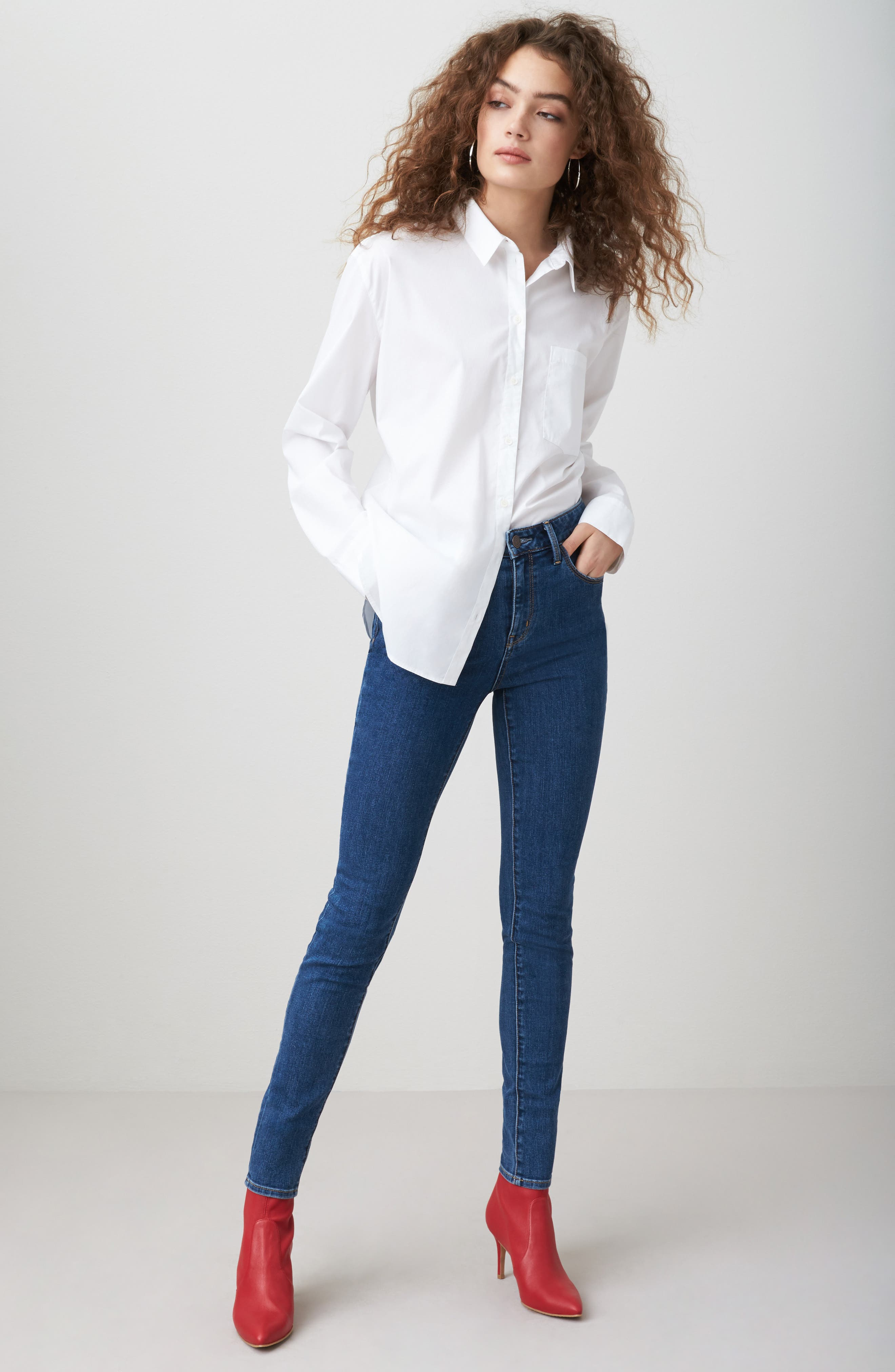 Charity High Waist Skinny Jeans,                             Alternate thumbnail 8, color,