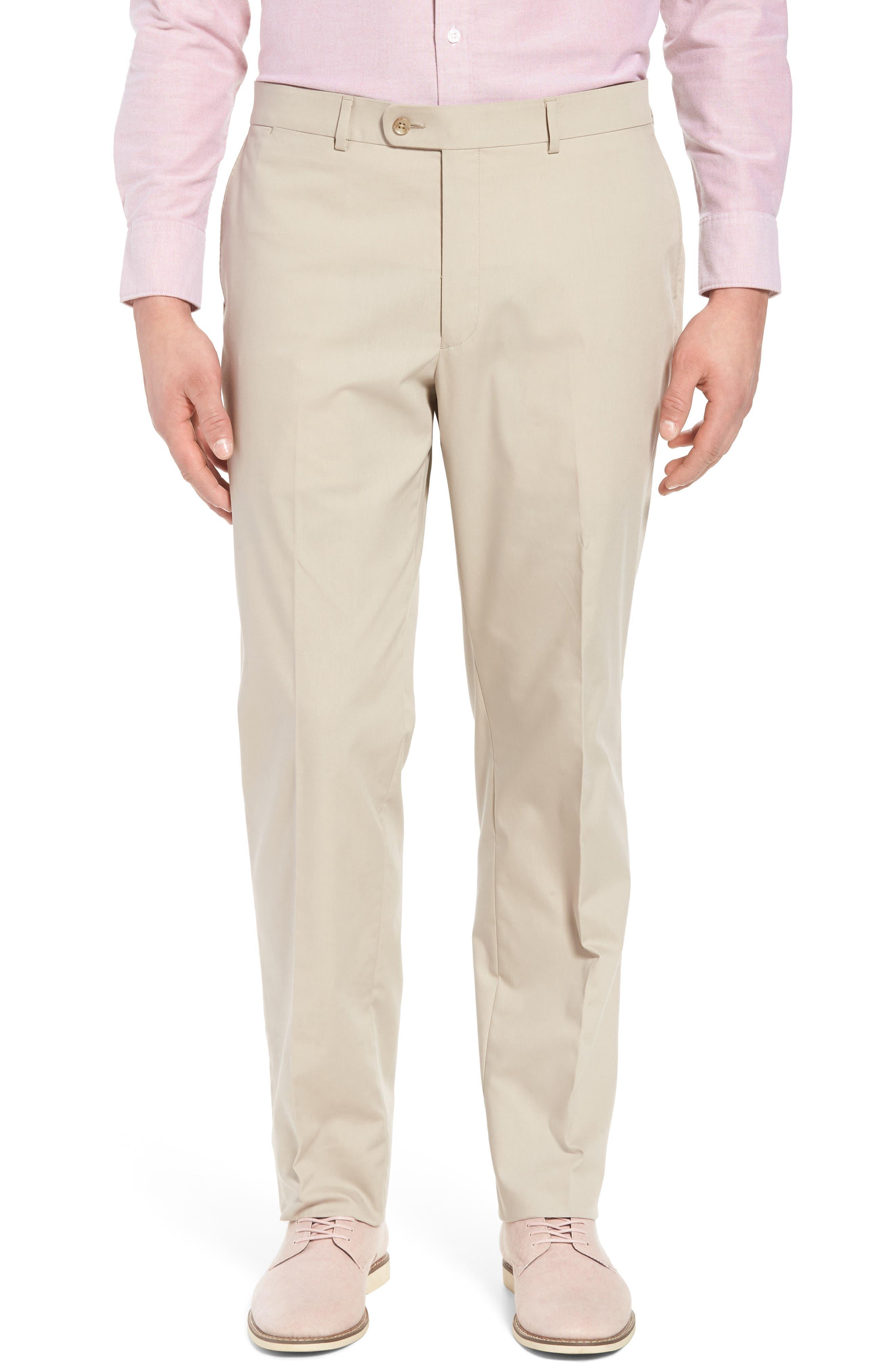Irons AIM Classic Fit Solid Cotton Blend Suit,                             Alternate thumbnail 6, color,                             BEIGE