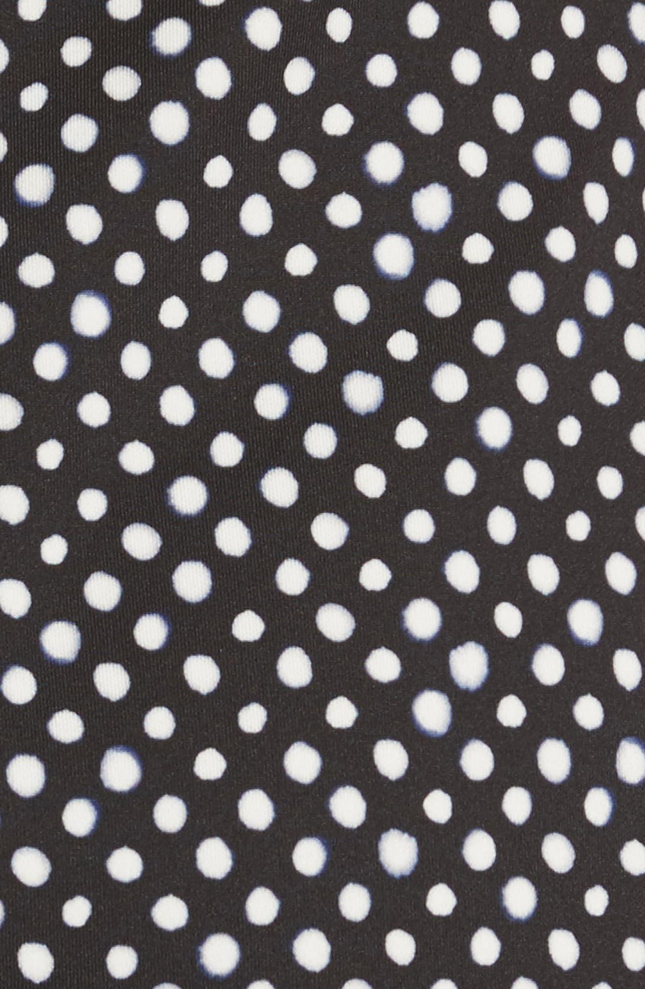 Amelia Polka Dot Print Off the Shoulder Dress,                             Alternate thumbnail 5, color,
