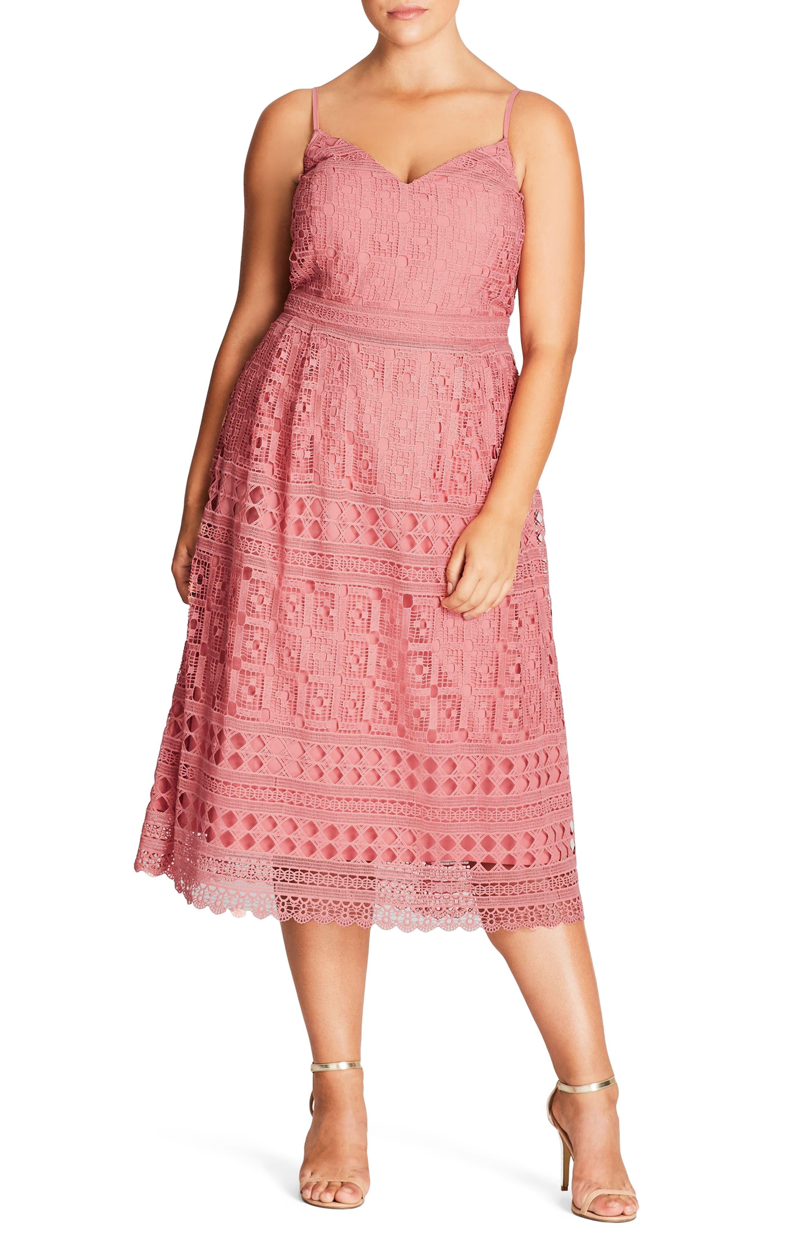 Sublime Lace Midi Dress,                             Main thumbnail 2, color,