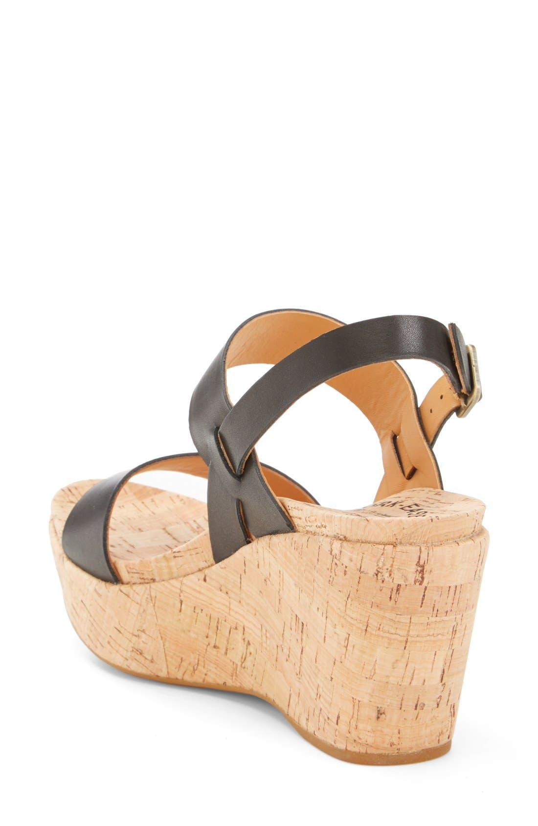 'Austin' Slingback Wedge Sandal,                             Alternate thumbnail 2, color,                             001