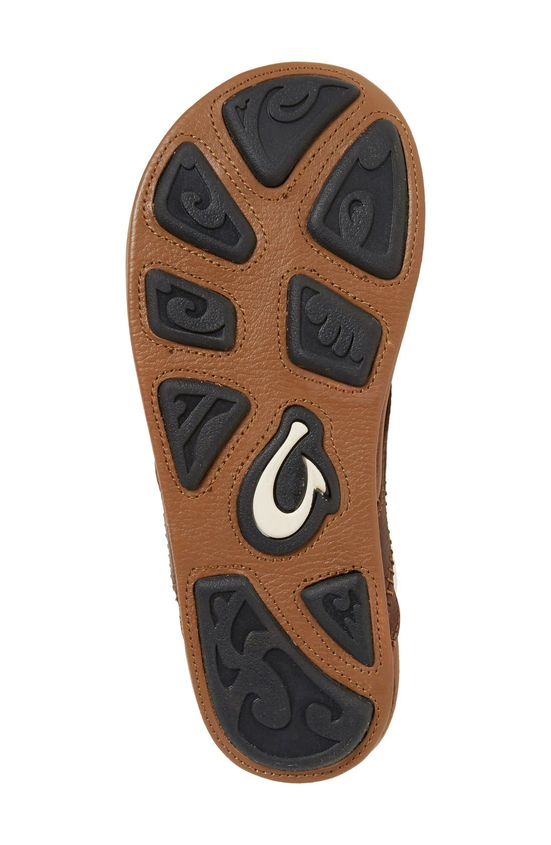 'Hiapo' Flip Flop,                             Alternate thumbnail 3, color,                             DARK JAVA TOFFEE