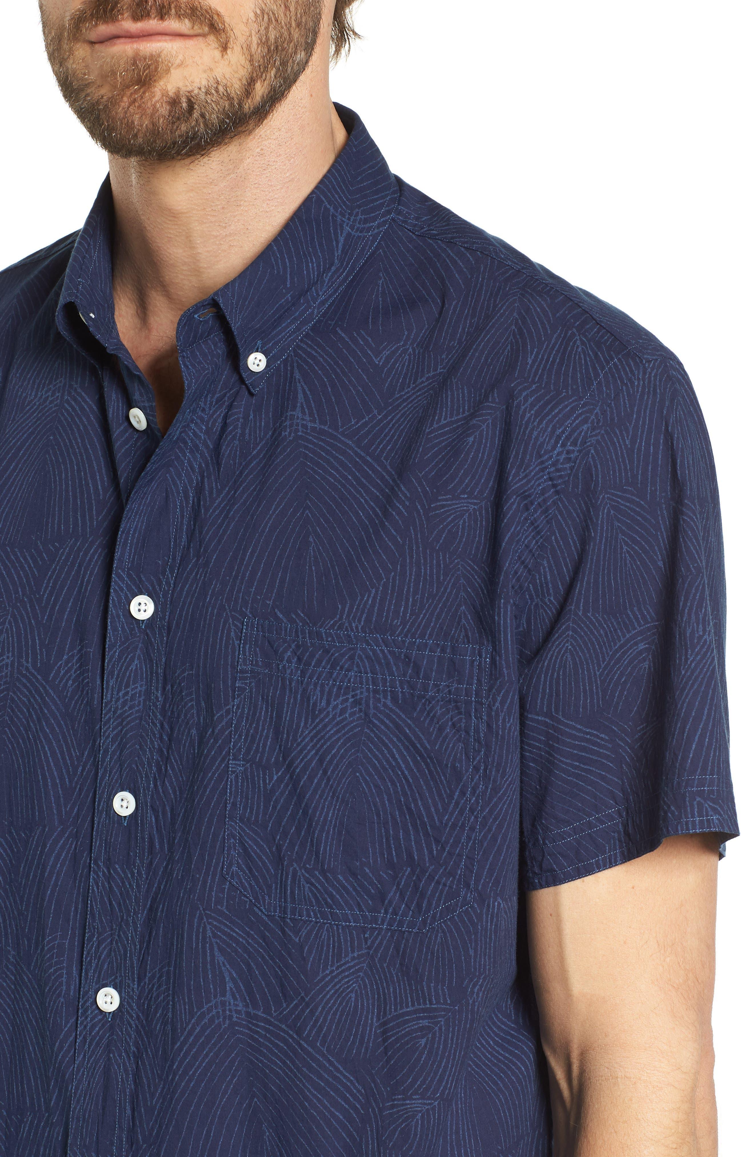 Tuscumbia Slim Fit Sport Shirt,                             Alternate thumbnail 4, color,                             407