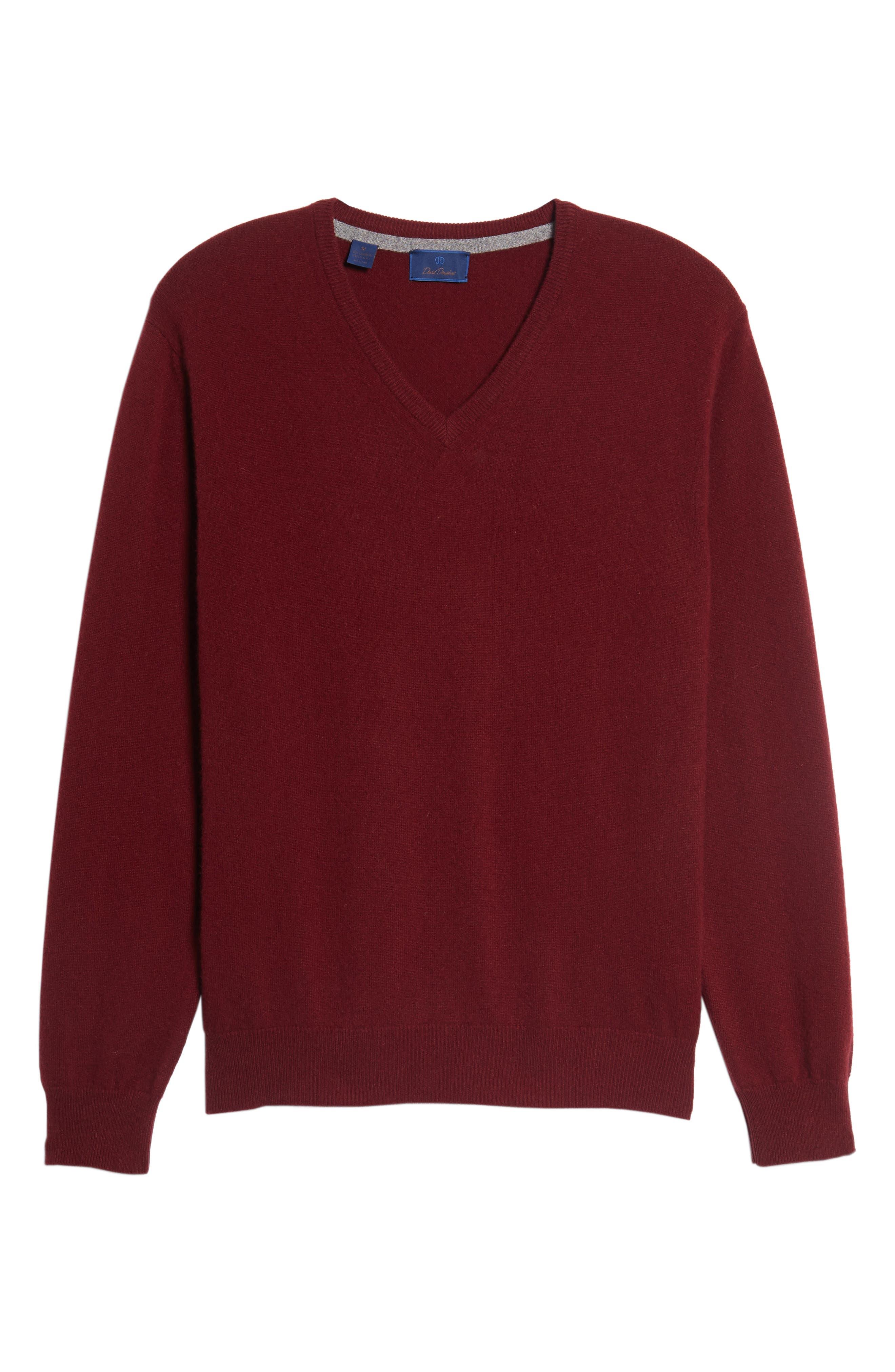 Cashmere V-Neck Sweater,                             Alternate thumbnail 36, color,