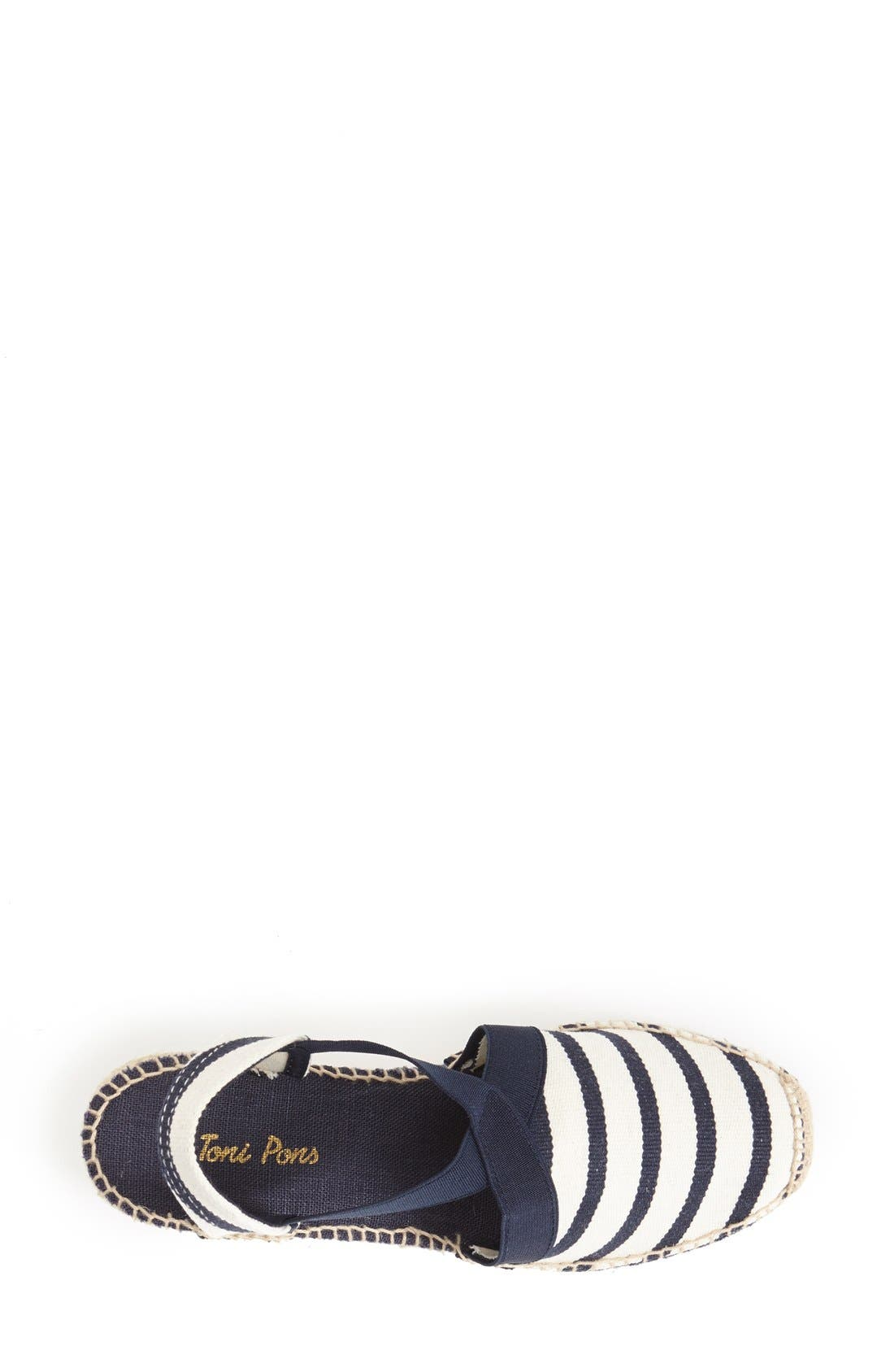 'Tarbes' Espadrille Wedge Sandal,                             Alternate thumbnail 4, color,                             BLUE