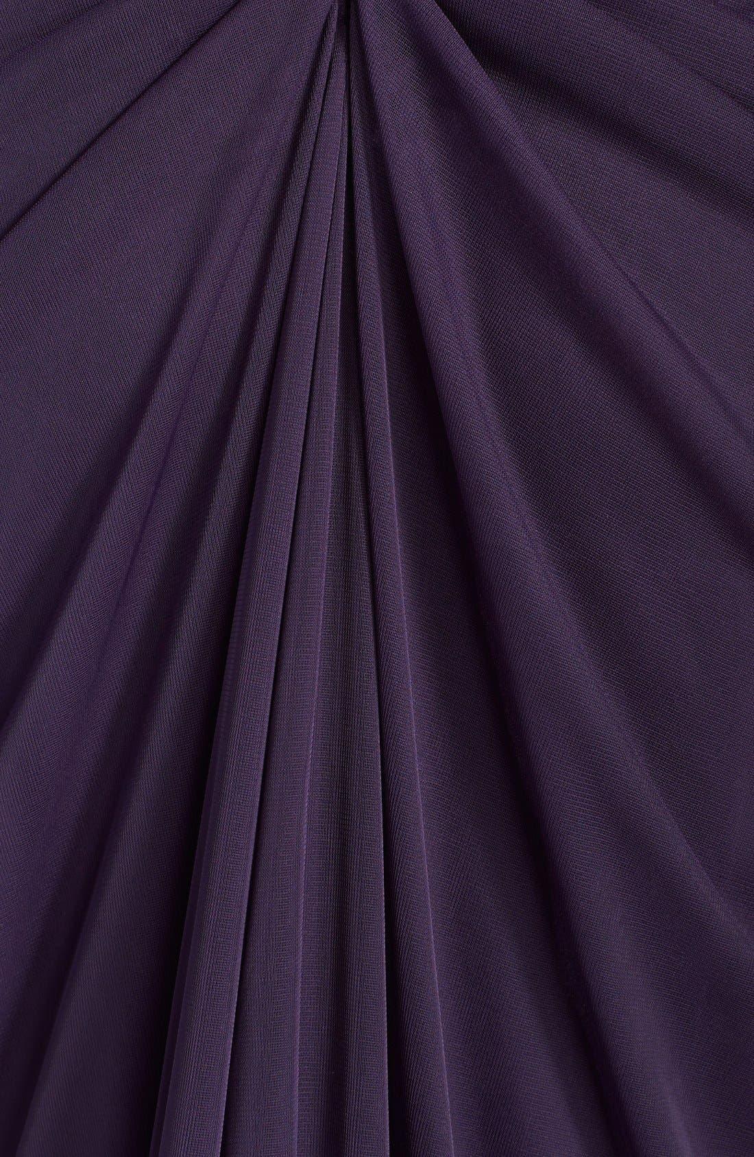 Lace Yoke Drape Gown,                             Alternate thumbnail 19, color,