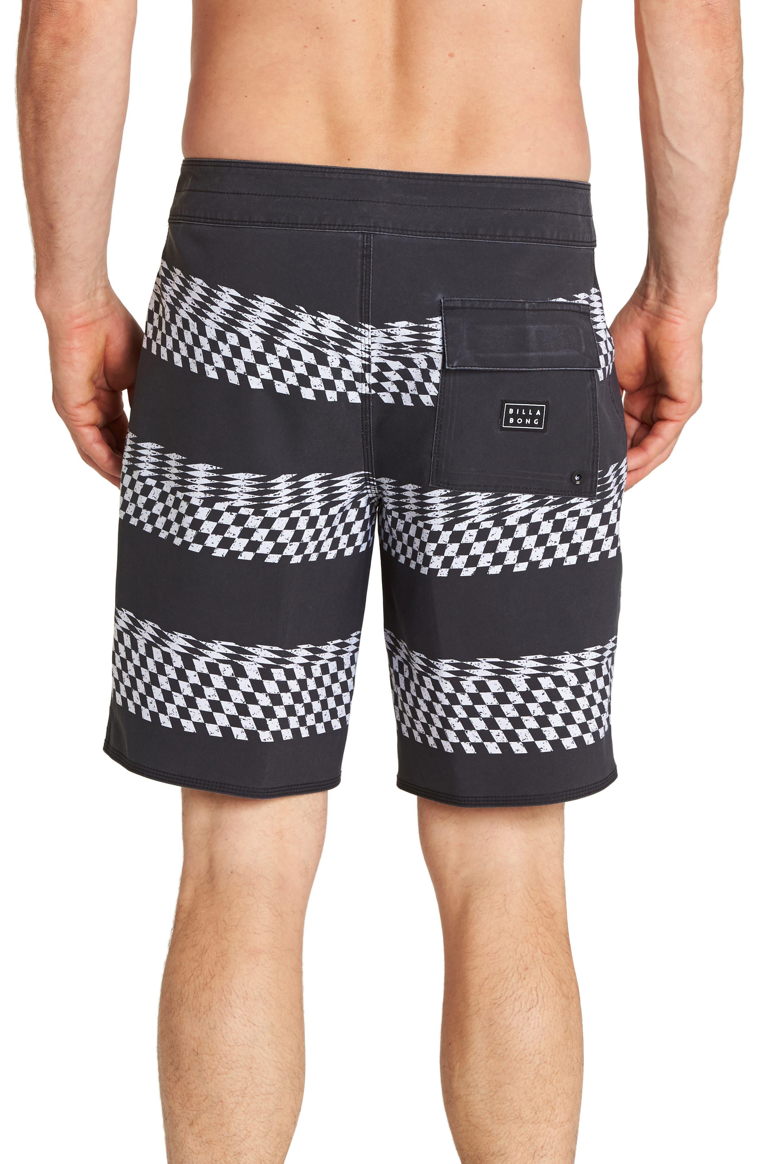 Sundays X-Stripe Board Shorts,                             Alternate thumbnail 2, color,                             BLACK